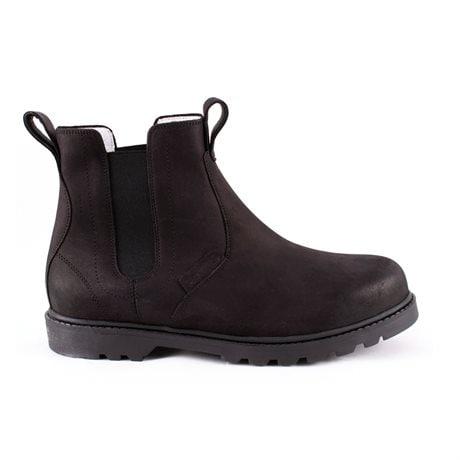 Klas, leather Chelsea boots Black