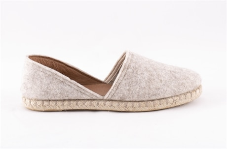 Paula ballerina shoes in wool Creme