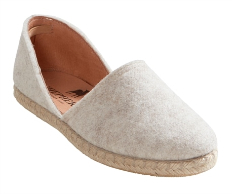 reputable site 2a13b d286b Paula ballerina shoes in wool Creme