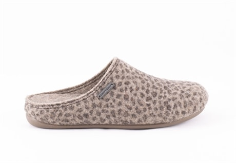 Cilla wool slippers Leopard patterned