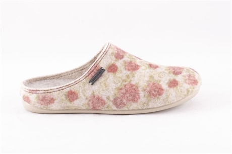Cilla wool slippers Beige/flower