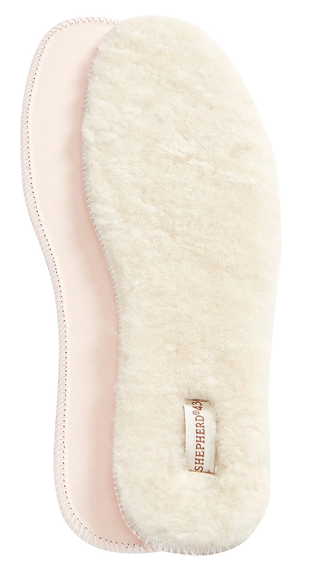 Moheda, sheepskin soles Natural White