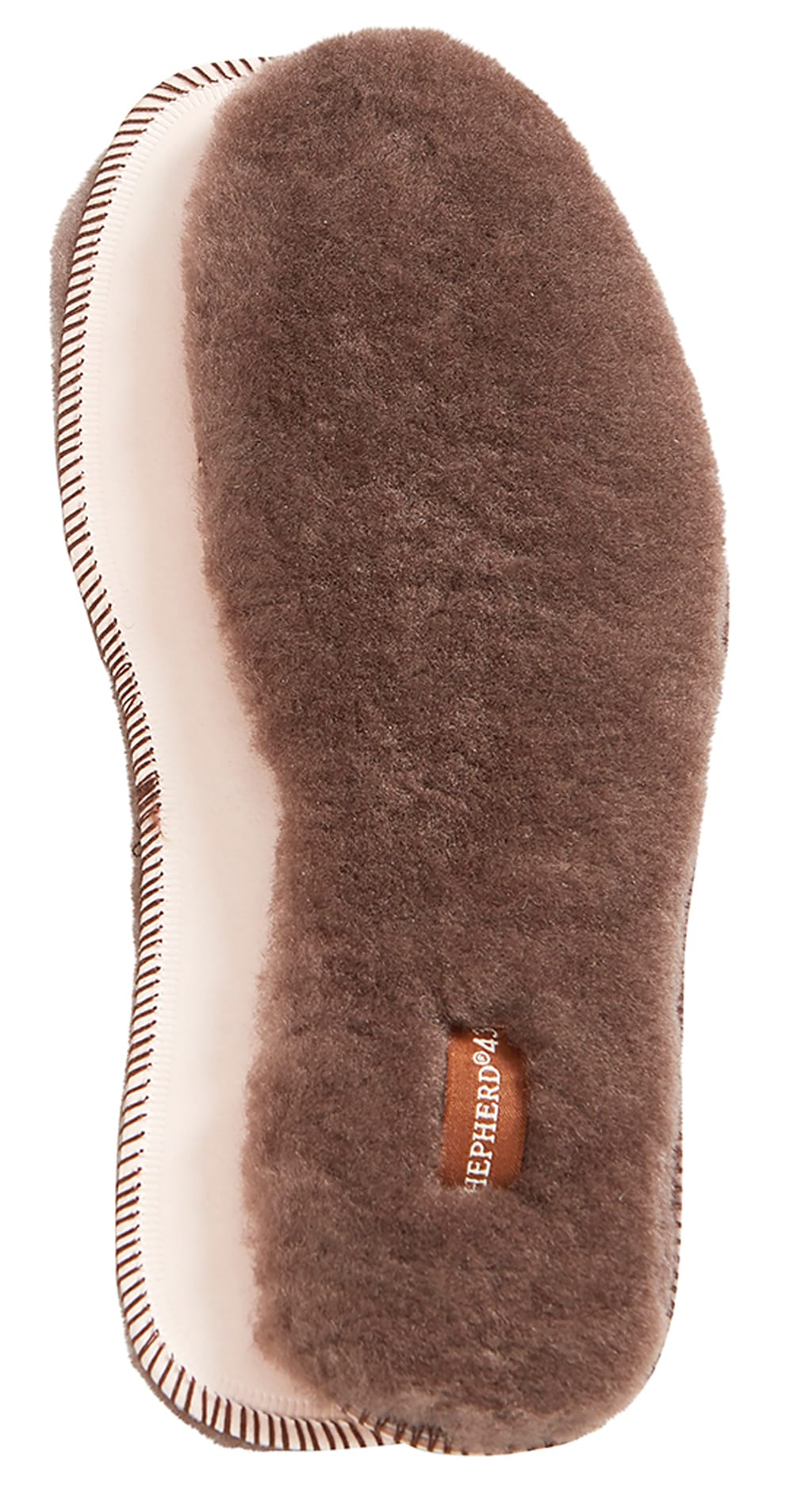 Moheda, sheepskin soles Dark brown