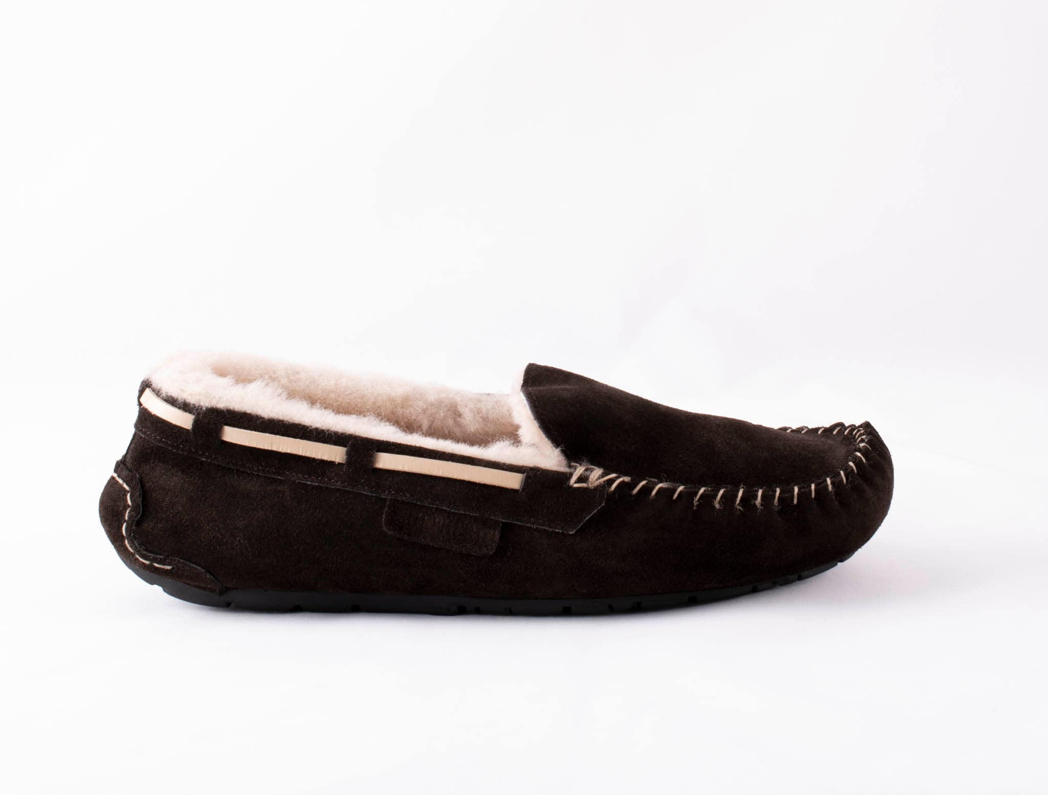 Steffo, sheepskin slippers Dark brown