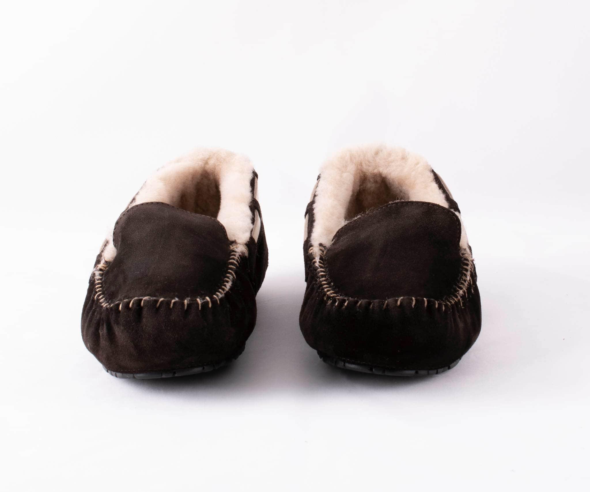 Steffo, sheepskin slippers Dark brown