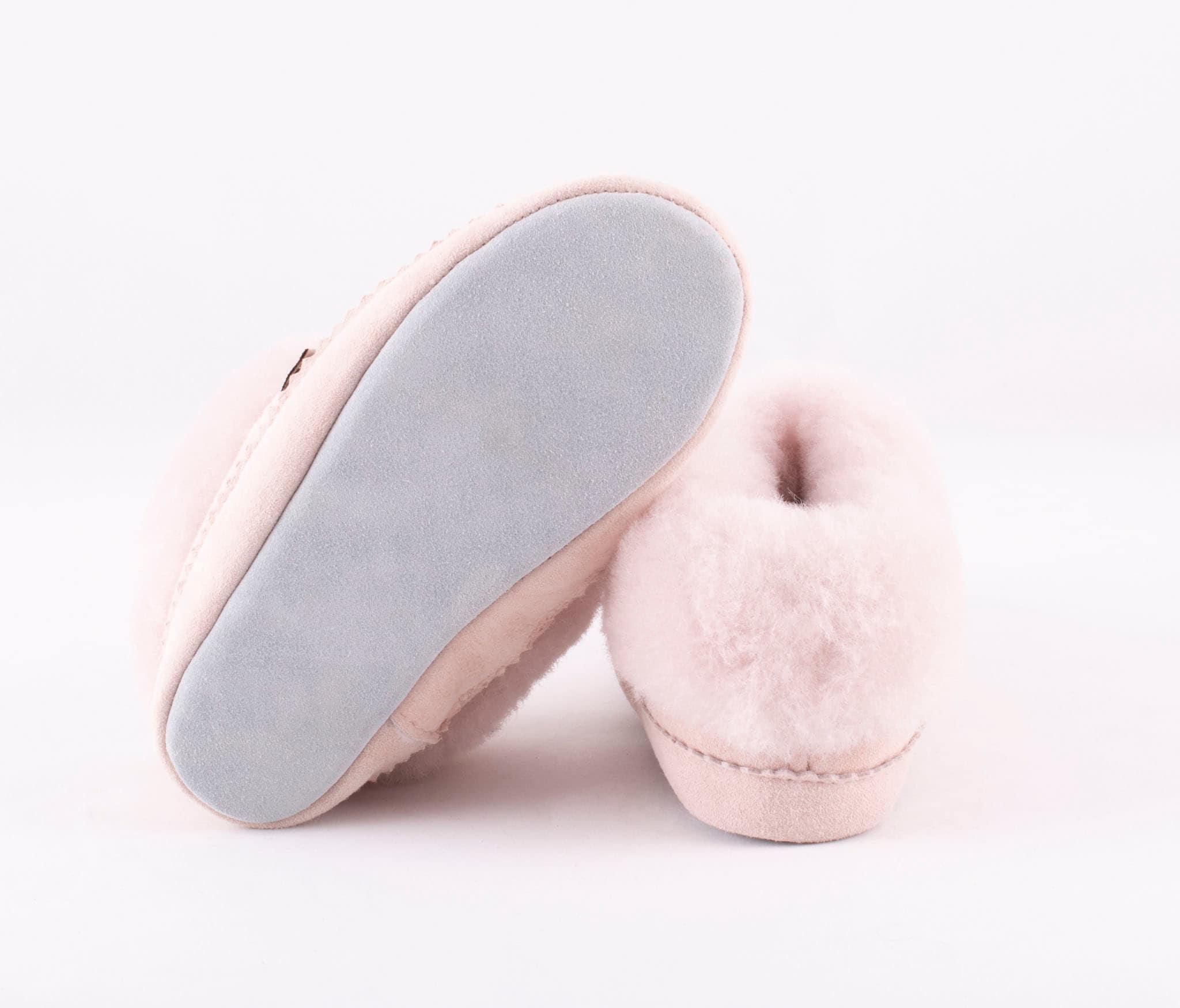 Piteå sheepskin slippers Pink