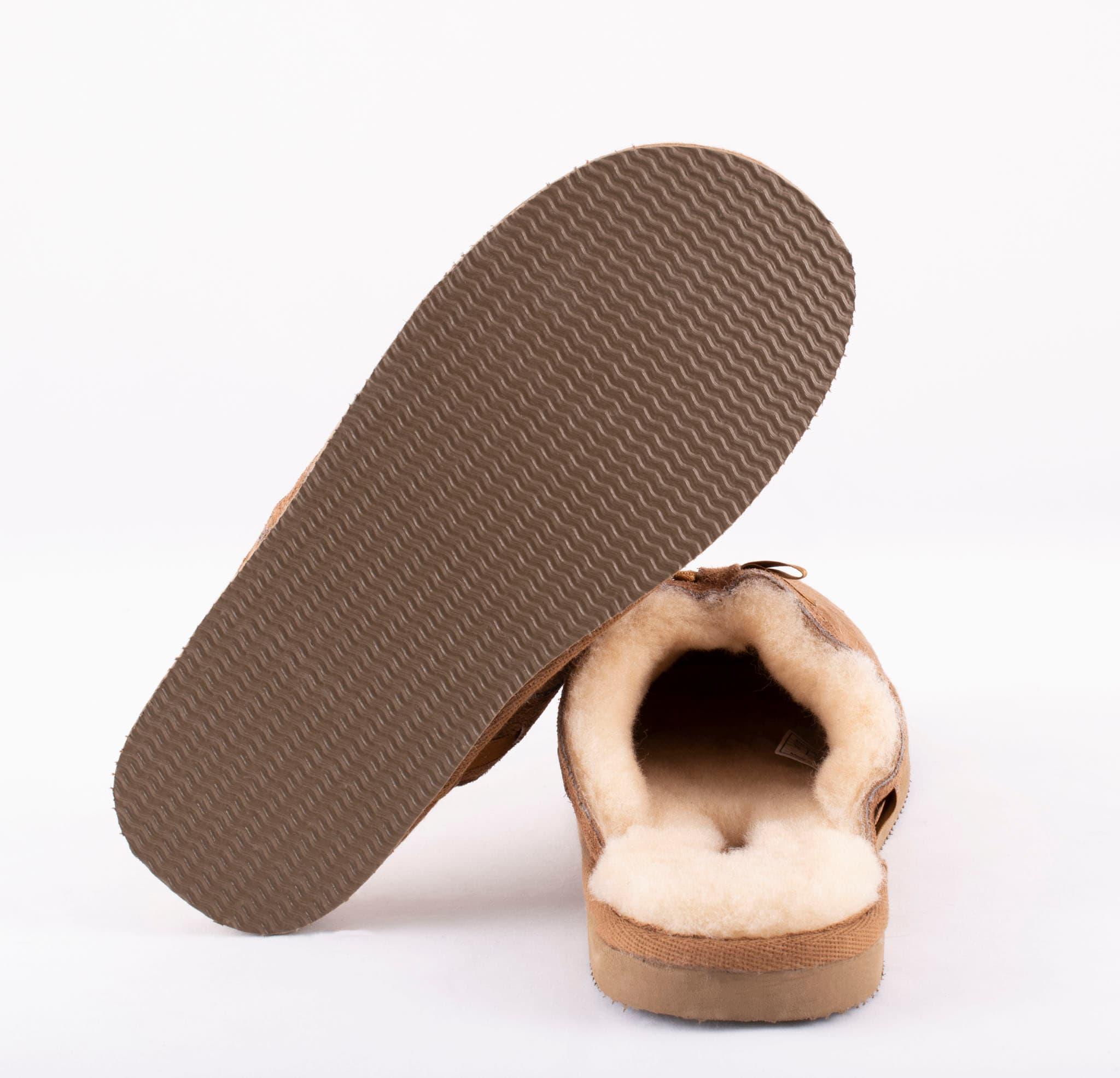 Anne slip-in tofflor i fårskinn Chestnut
