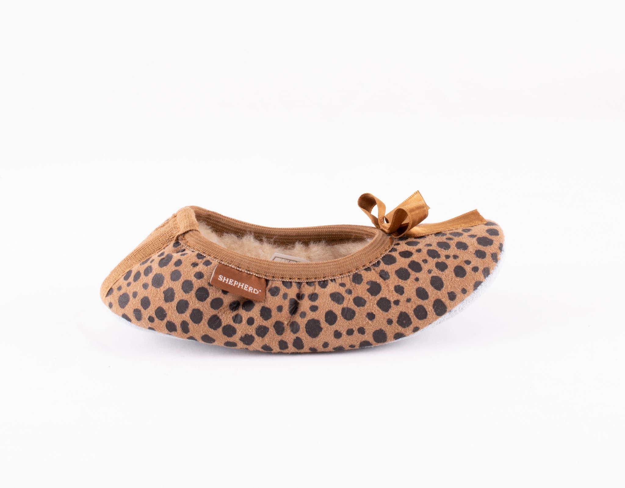 Varberg, ballerina slippers Leopard patterned