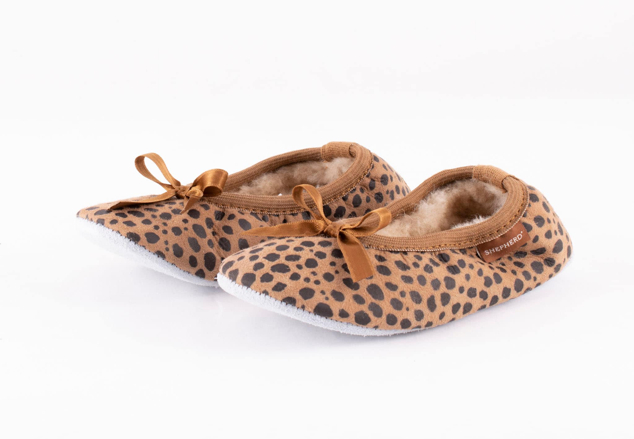 Varberg, ballerina slippers Leopard patterned