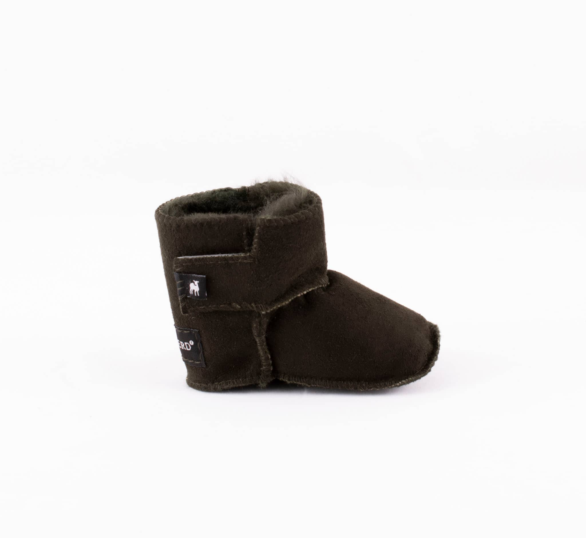 Borås baby slippers Olive