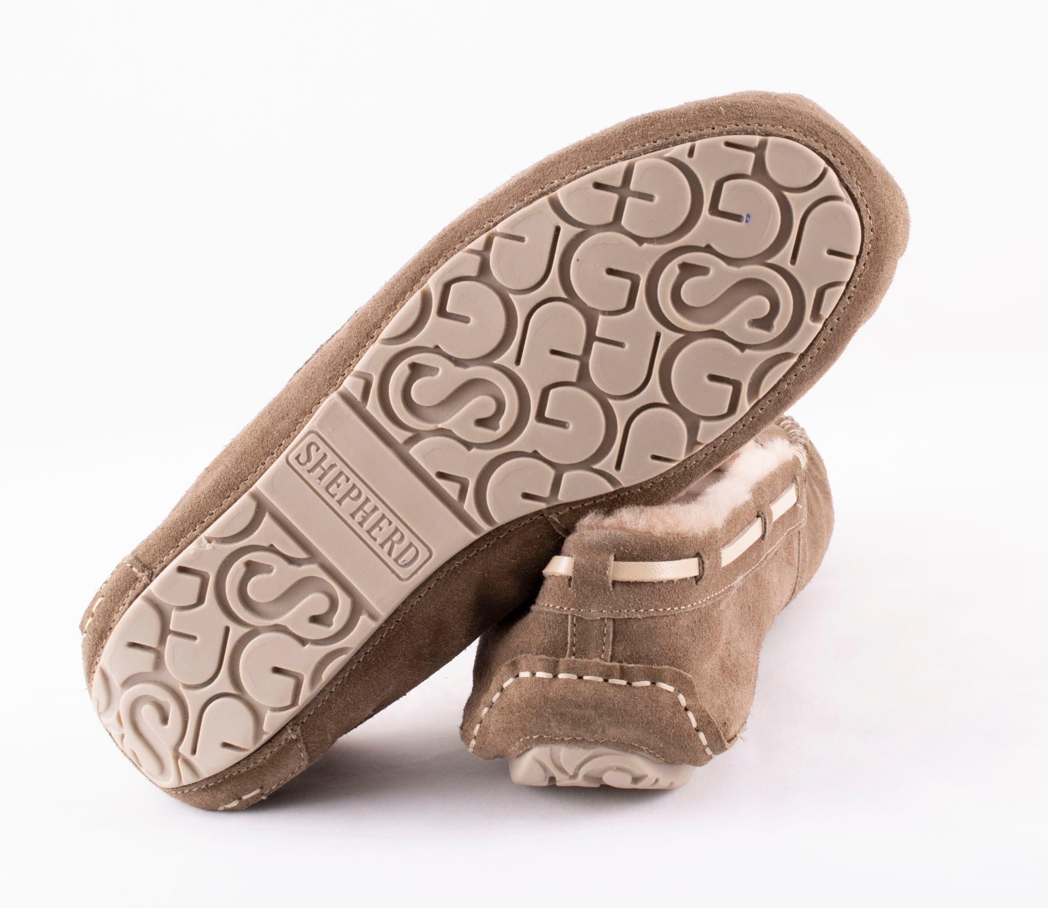 Steffo, sheepskin slippers Stone