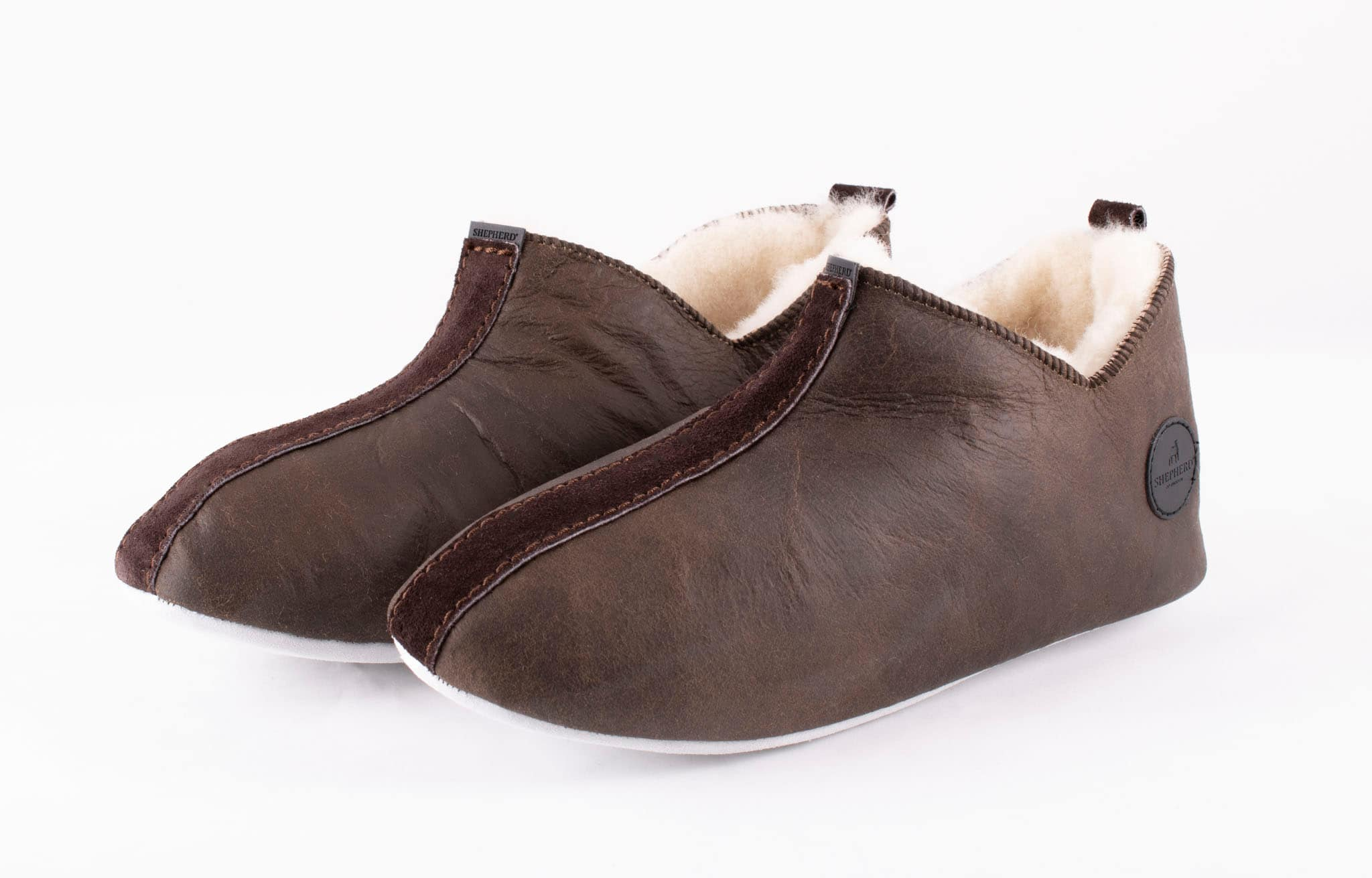 Henrik slippers Oiled antique