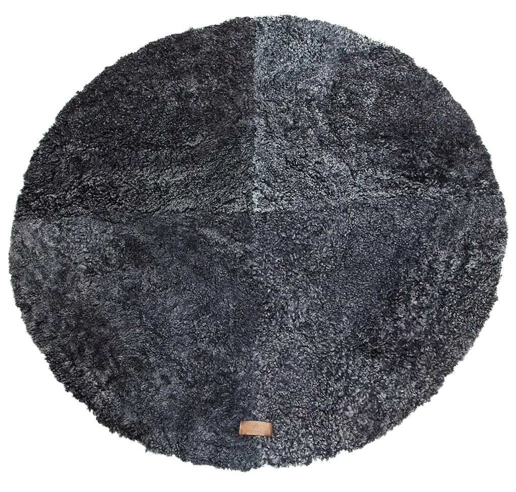 Ebba round sheepskin rug 120cm