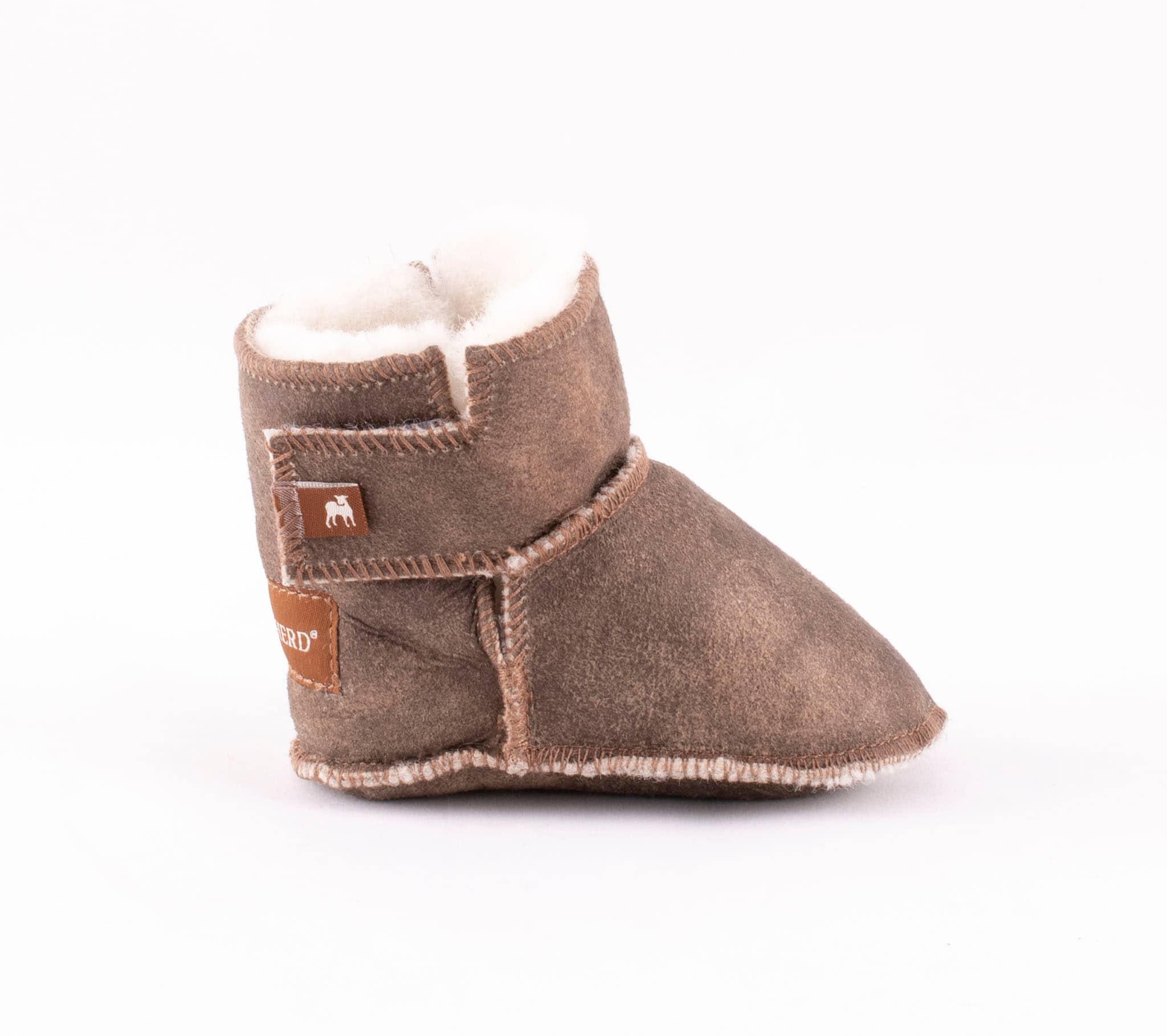 Borås baby slippers Antique creme