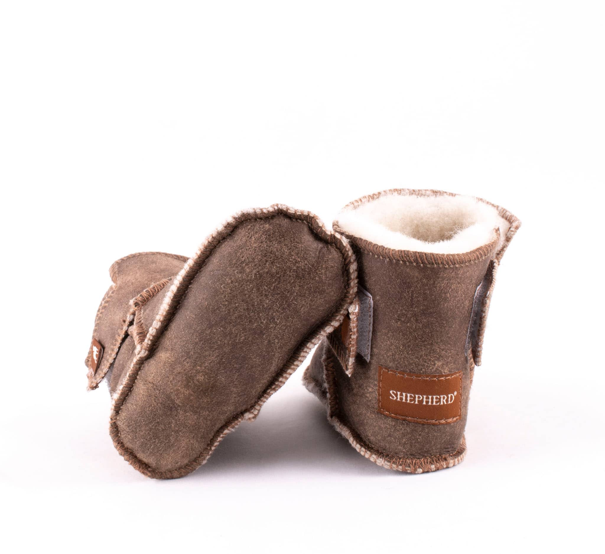 Borås baby slippers Antique creme
