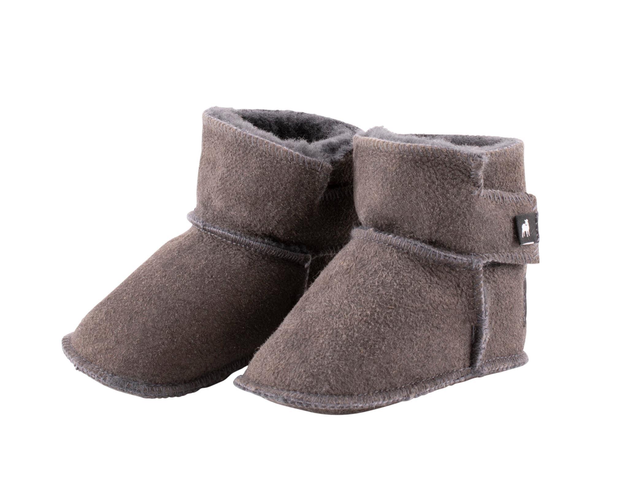 Borås baby slippers Asphalt