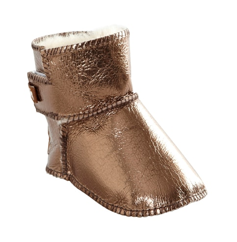 Borås baby slippers Gold