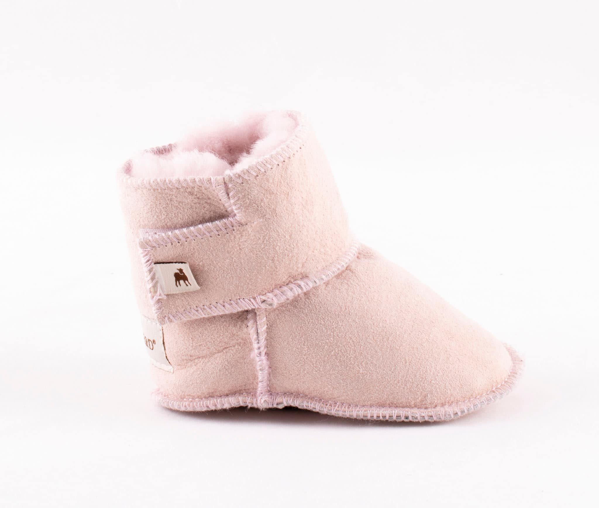 Borås baby slippers Pink