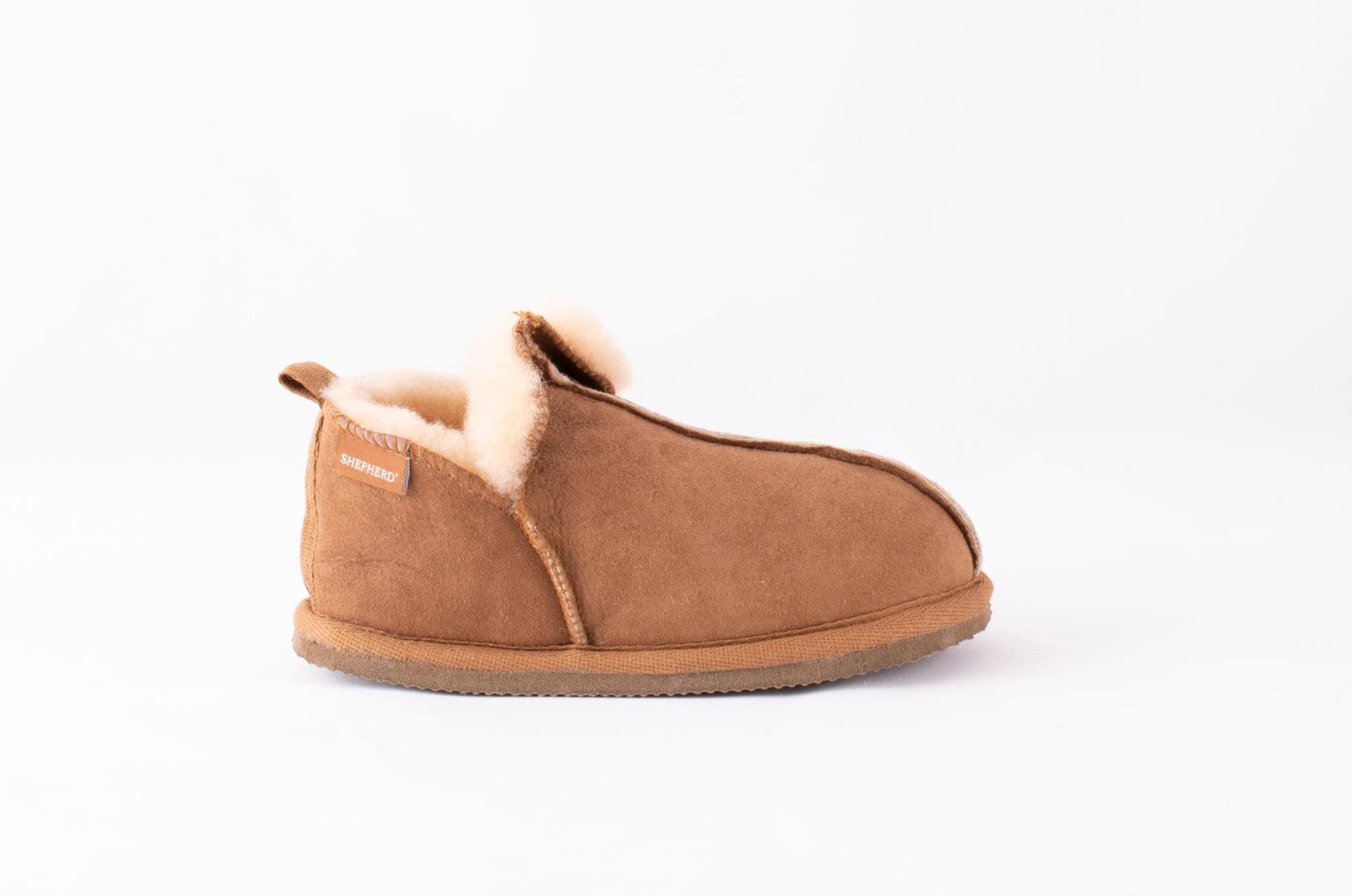 Marsielle, sheepskin slippers Camel