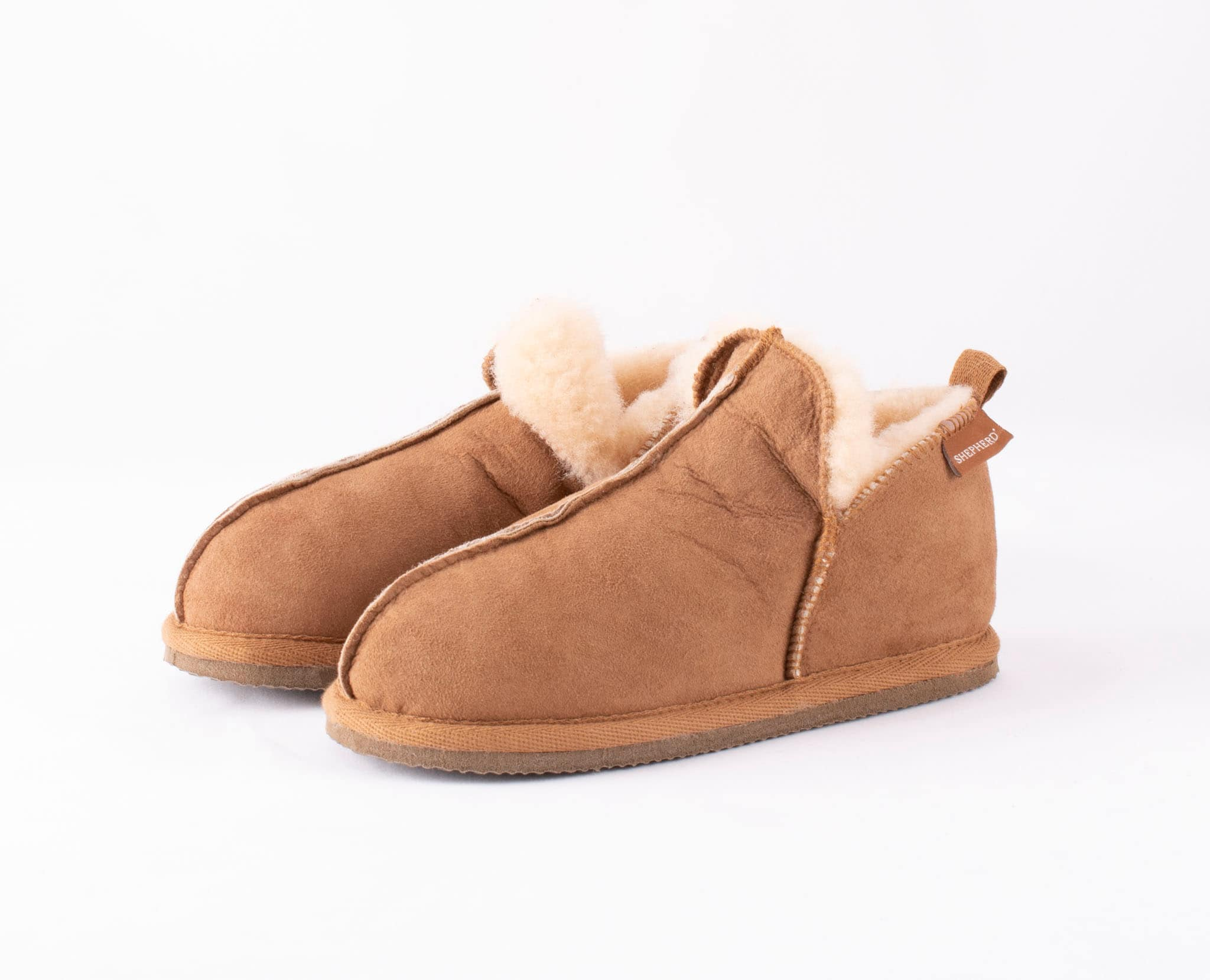 Marsielle, sheepskin slippers Camel