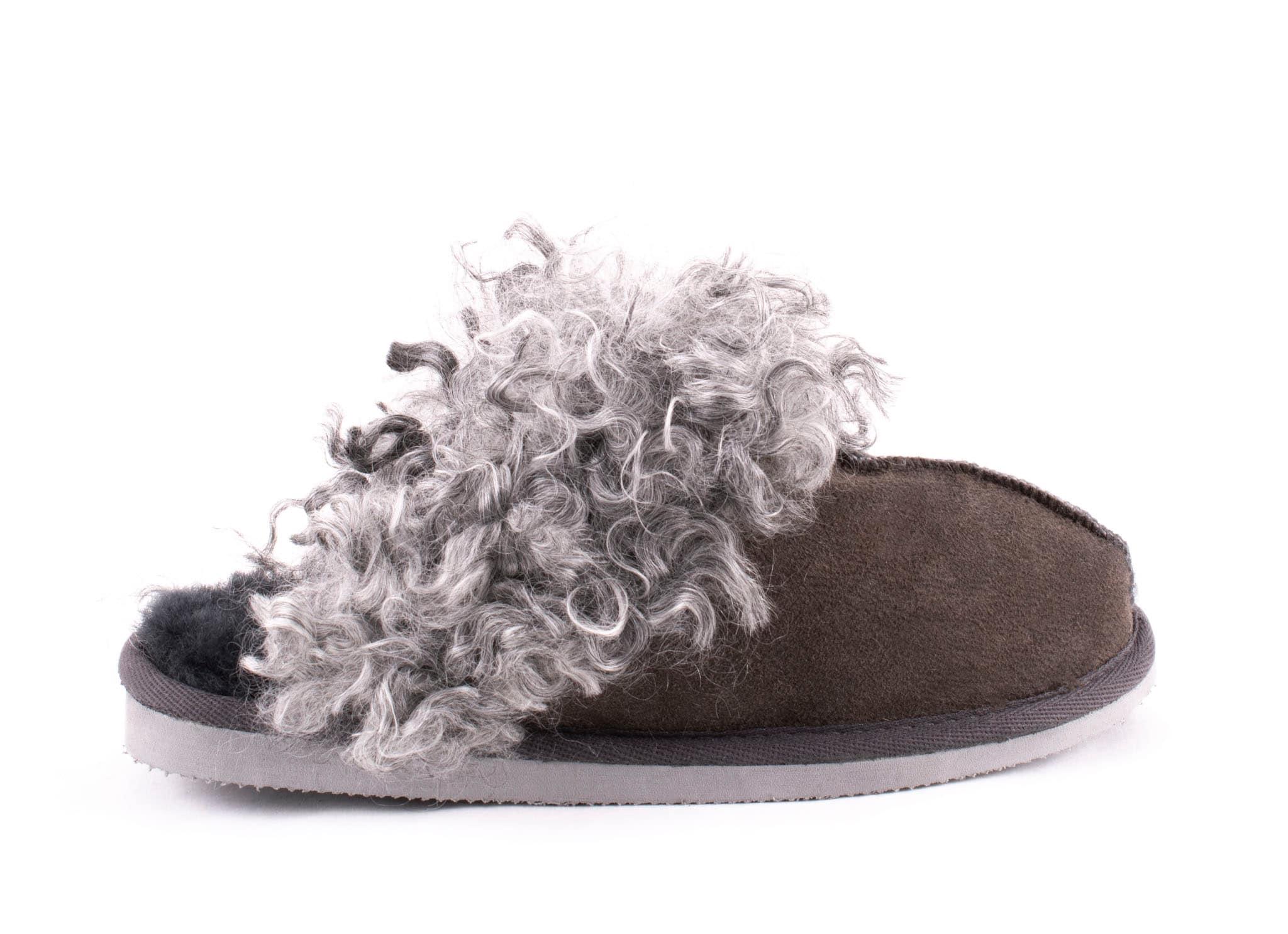 Tuva sheepskin slippers