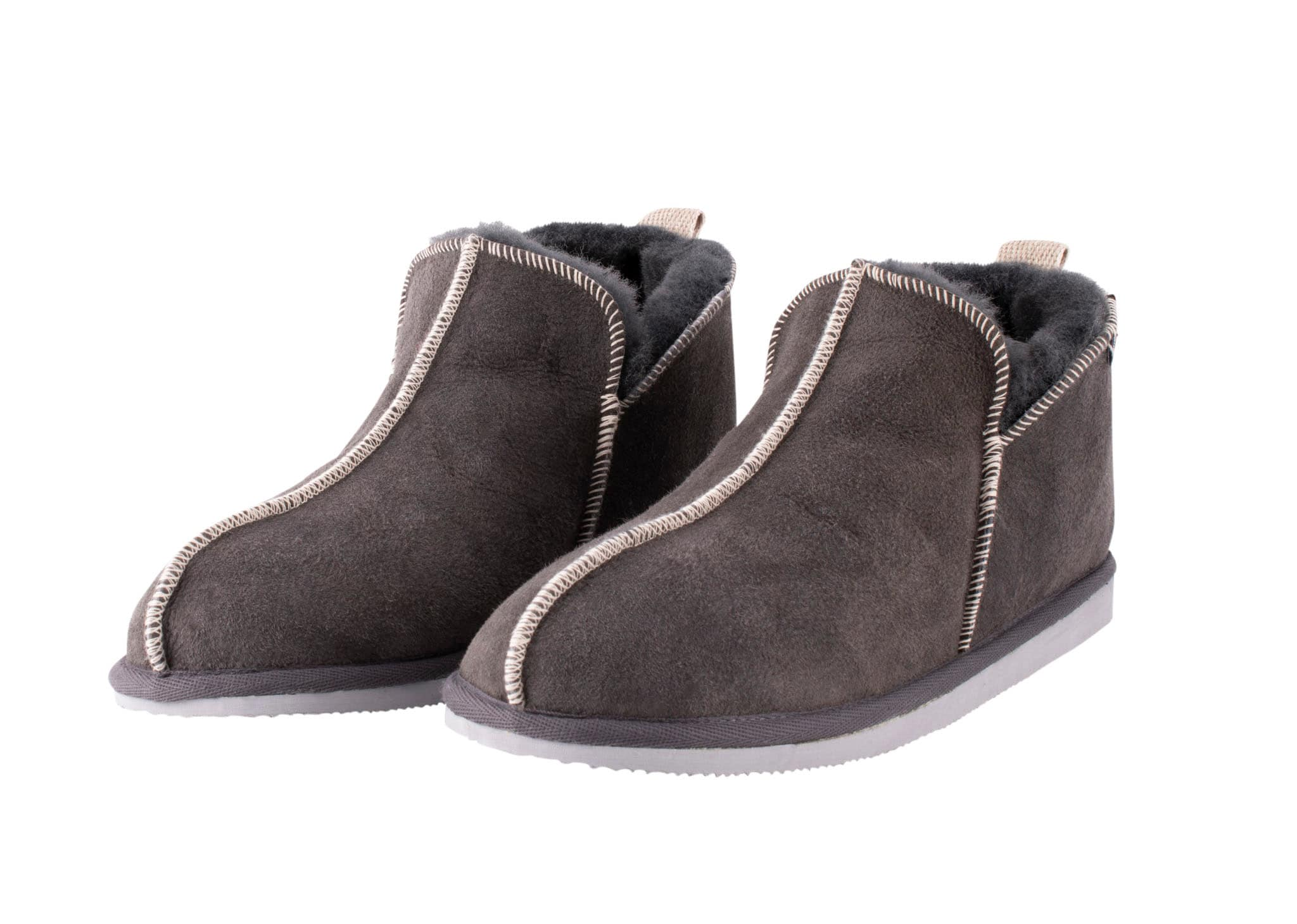Andy, sheepskin slippers Dark grey