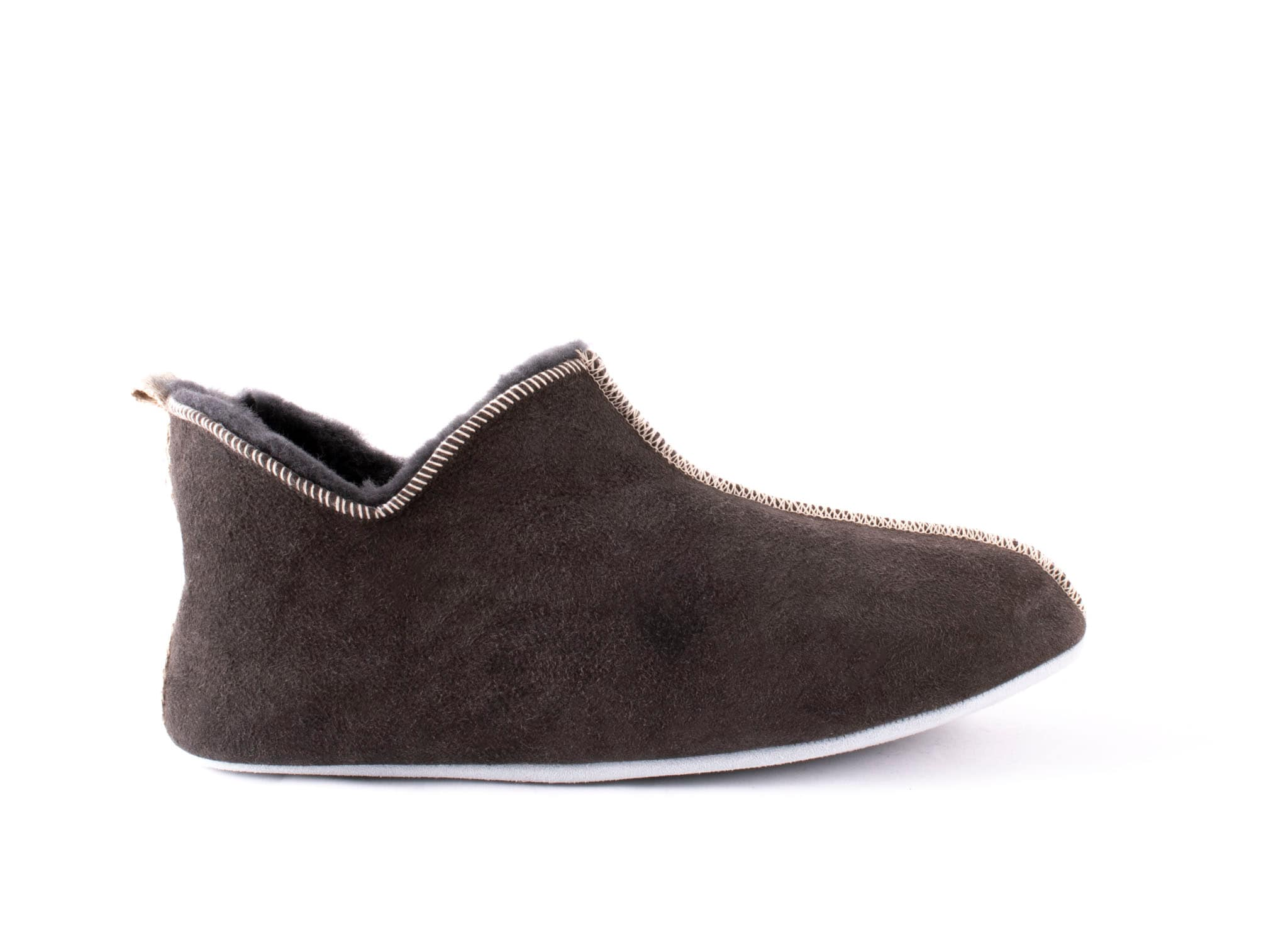 Anders, sheepskin slippers Grey
