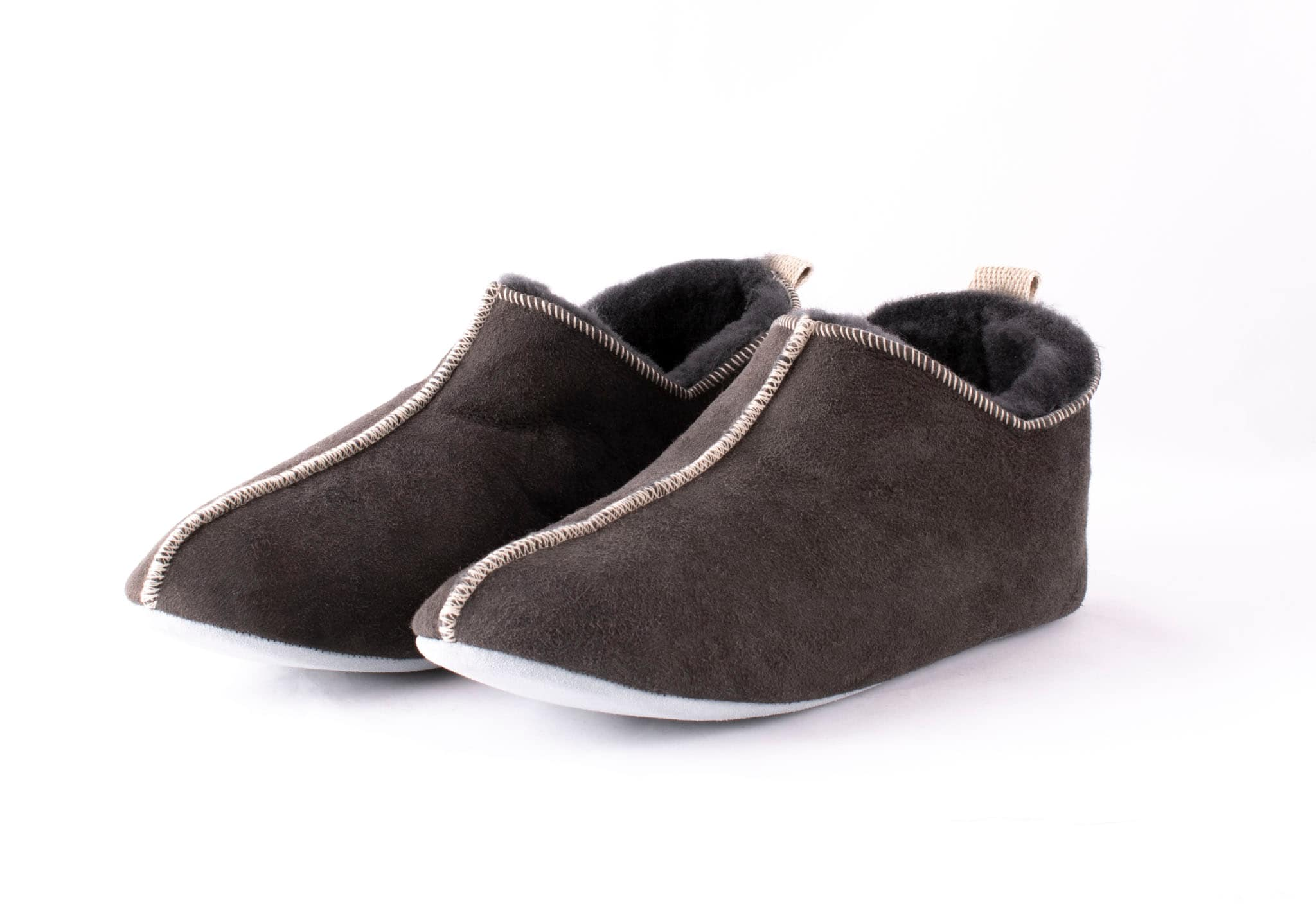 Anders, sheepskin slippers Grey