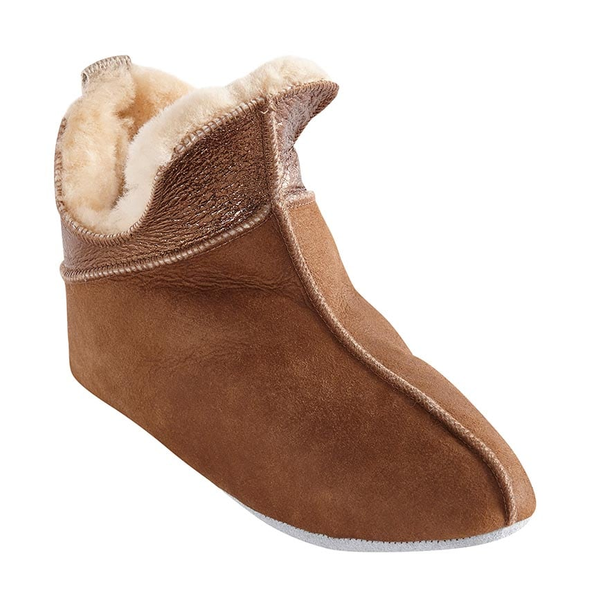 Ninni slippers  Antique cognac/gold