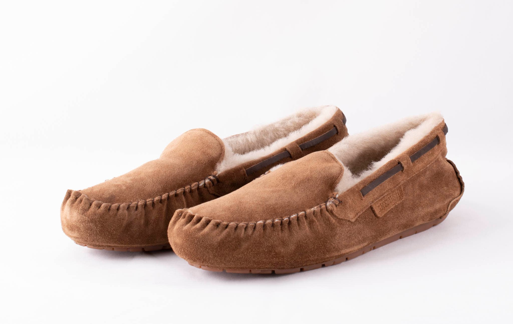 Steffo, sheepskin slippers Dark camel