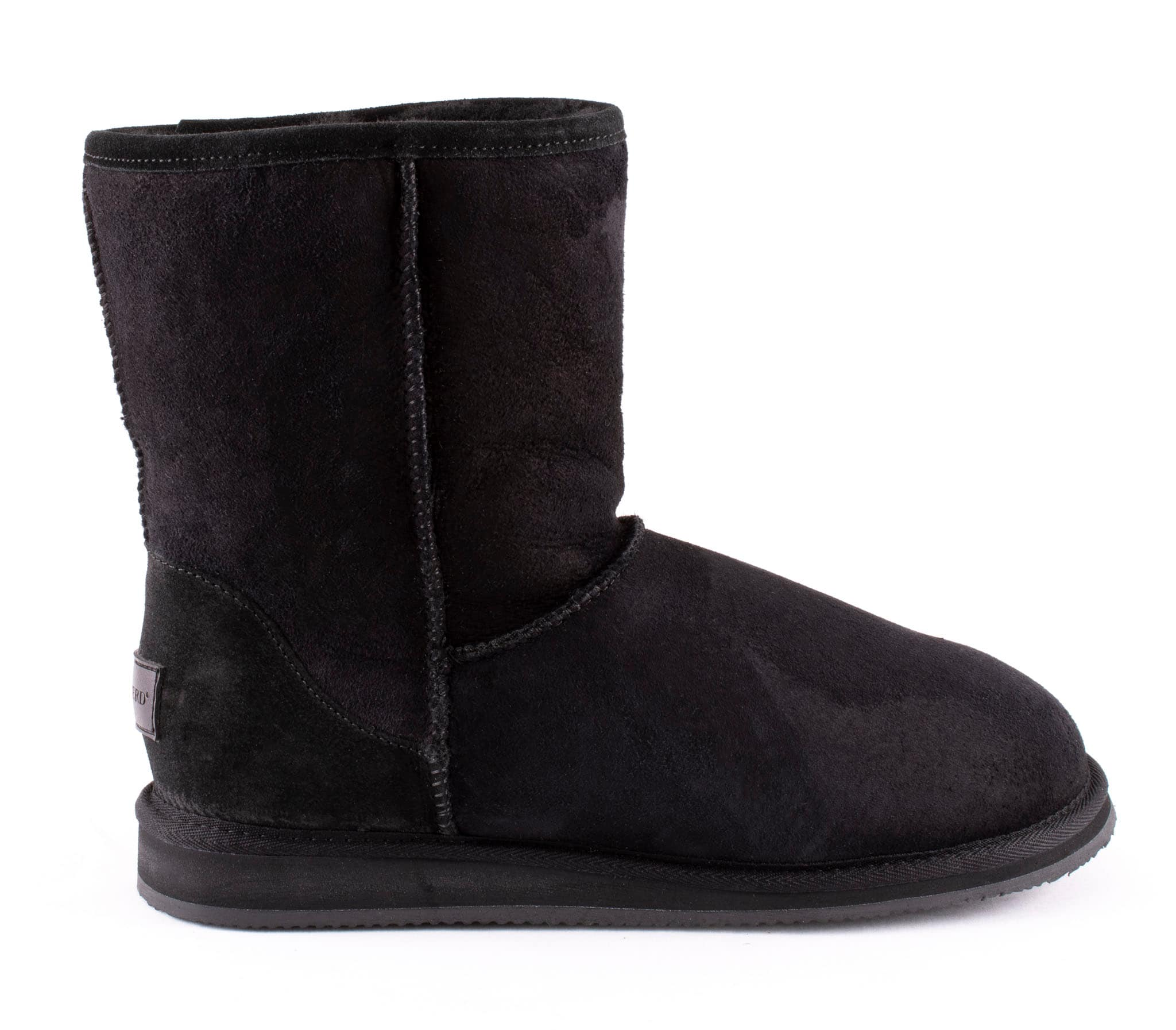 Linda, soft sheepskin boots Black