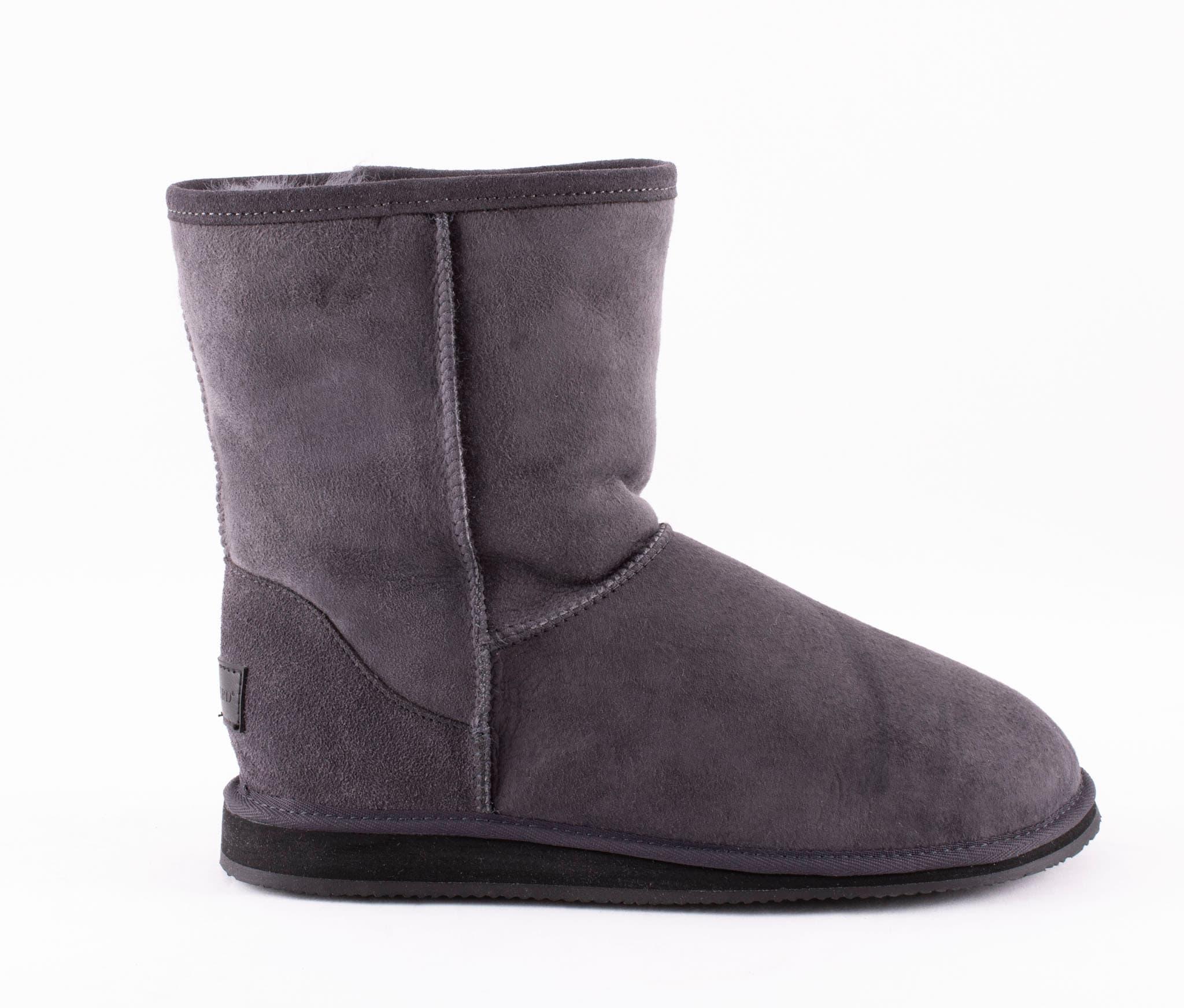 Linda, soft sheepskin boots Dark grey