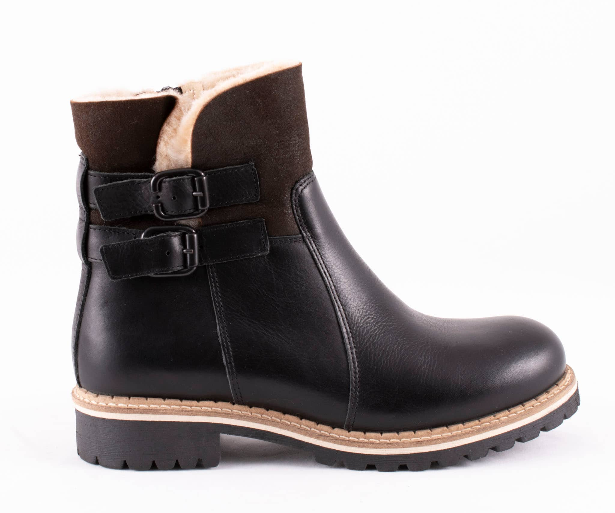 Smilla, ankel boots in leather Black