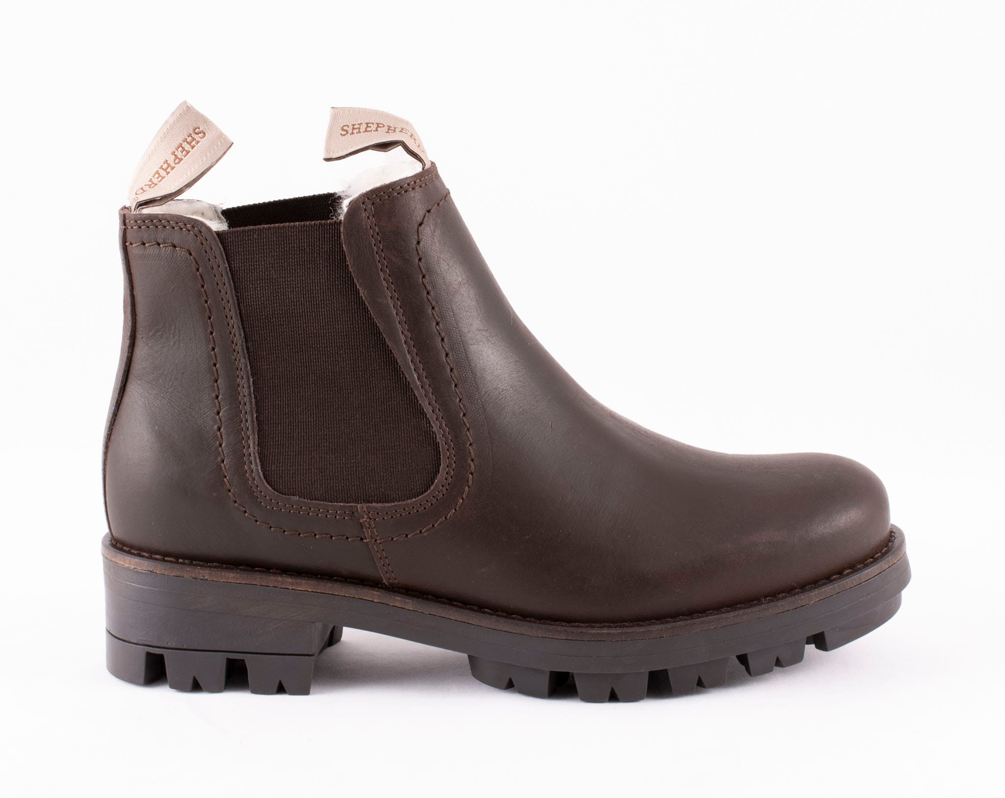 Cissi, ankel boots in leather Dark brown