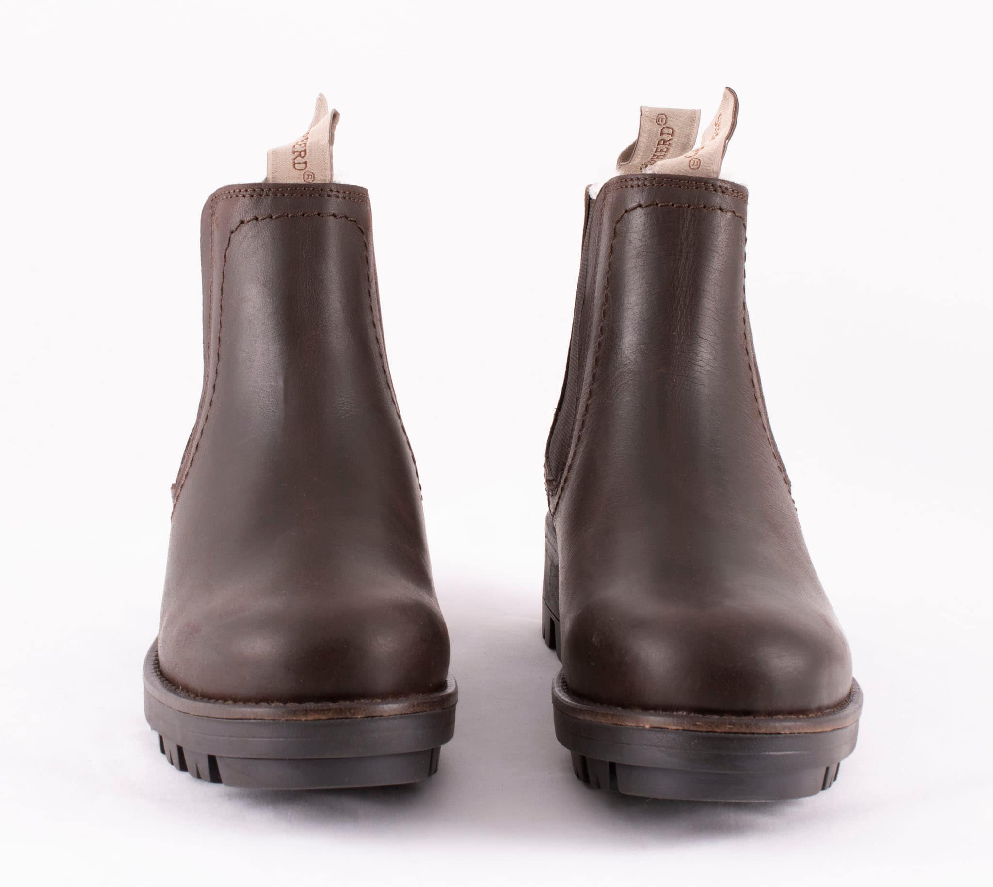 Cissi, ankel boots in leather Dark brown