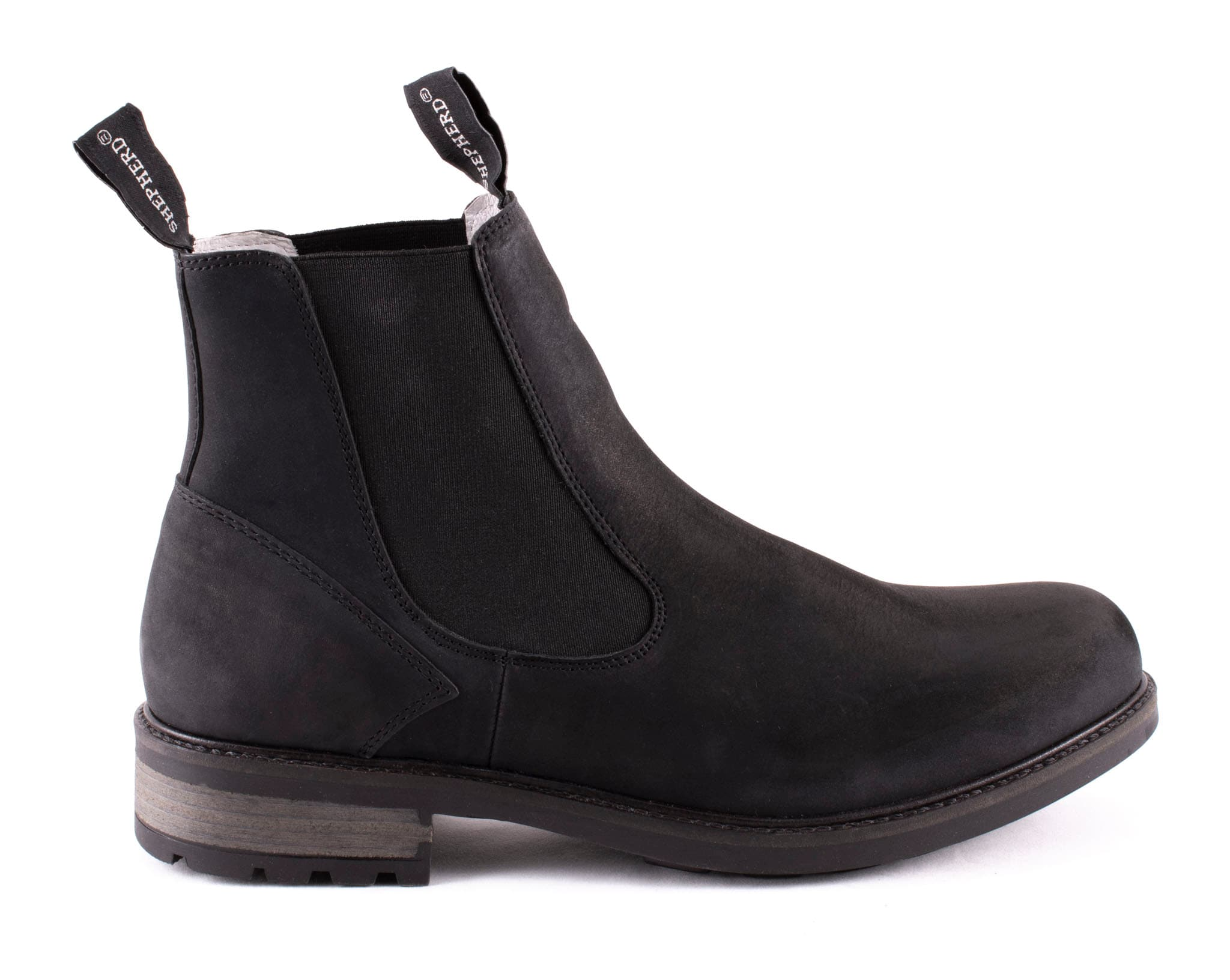 Kevin, leather Chelsea boots Black