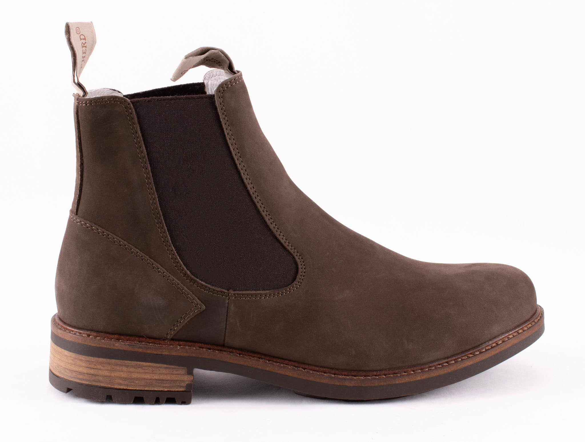 Kevin, leather Chelsea boots Dark brown
