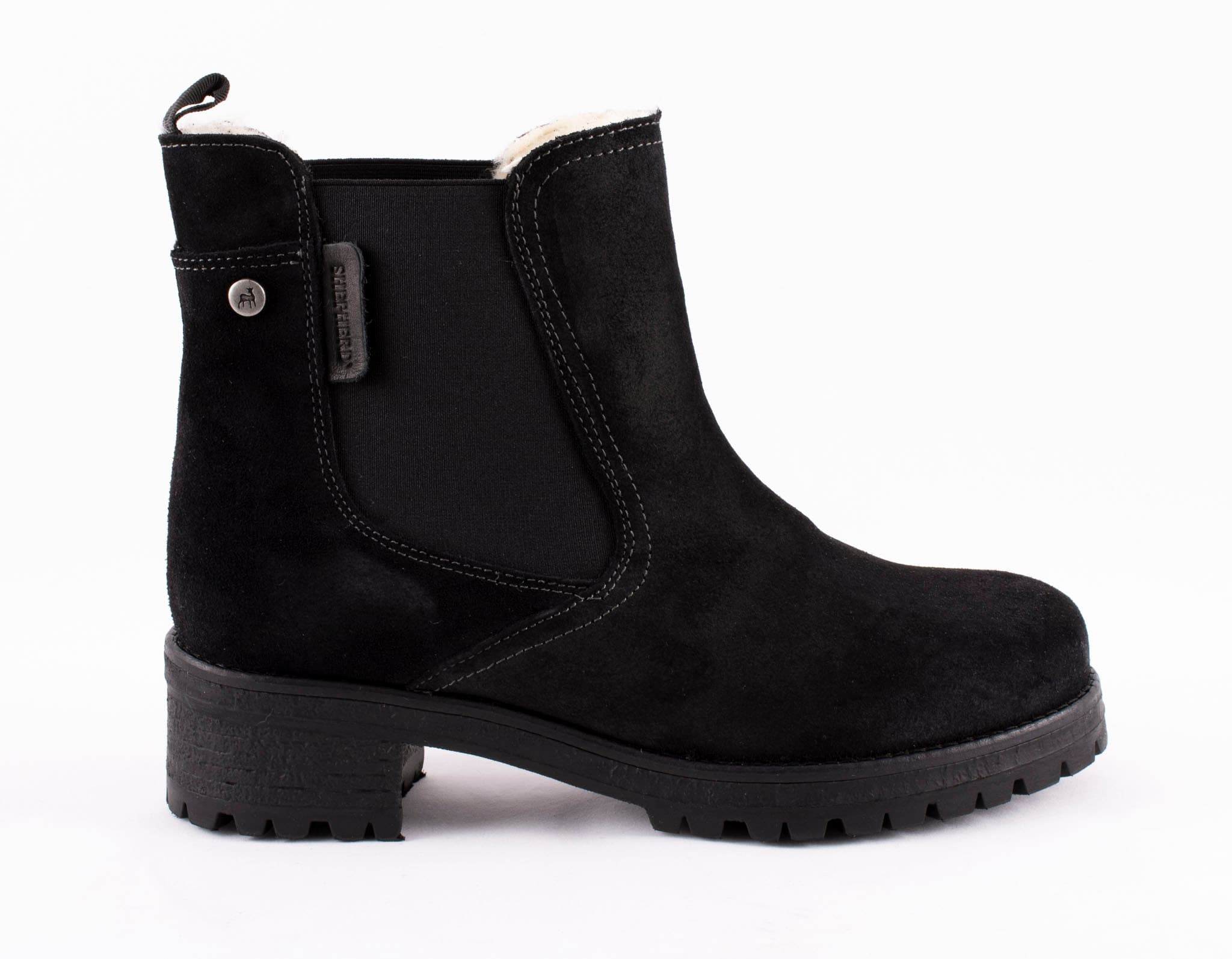 Lotta, Chelsea boots in suede Black