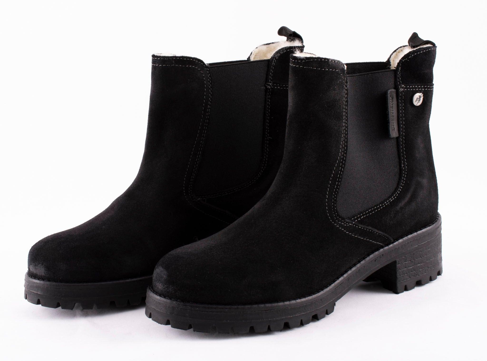 Lotta, Chelsea boots in suede Black