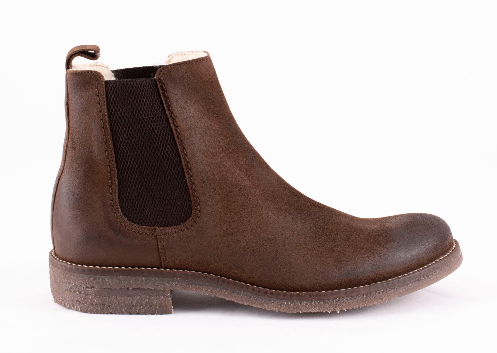 Emanuel, suede Chelsea boots Dark brown