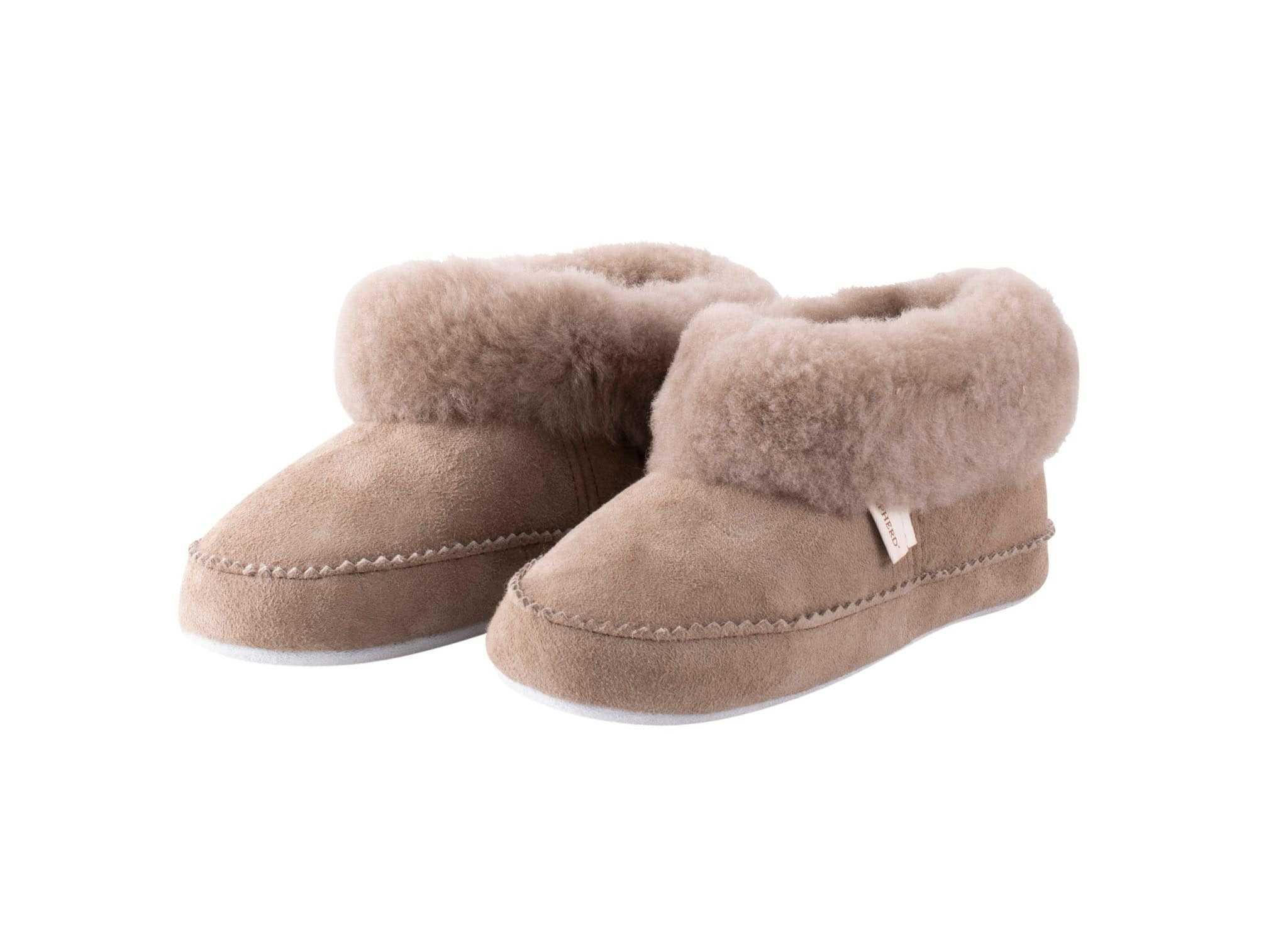 Piteå sheepskin slippers Stone