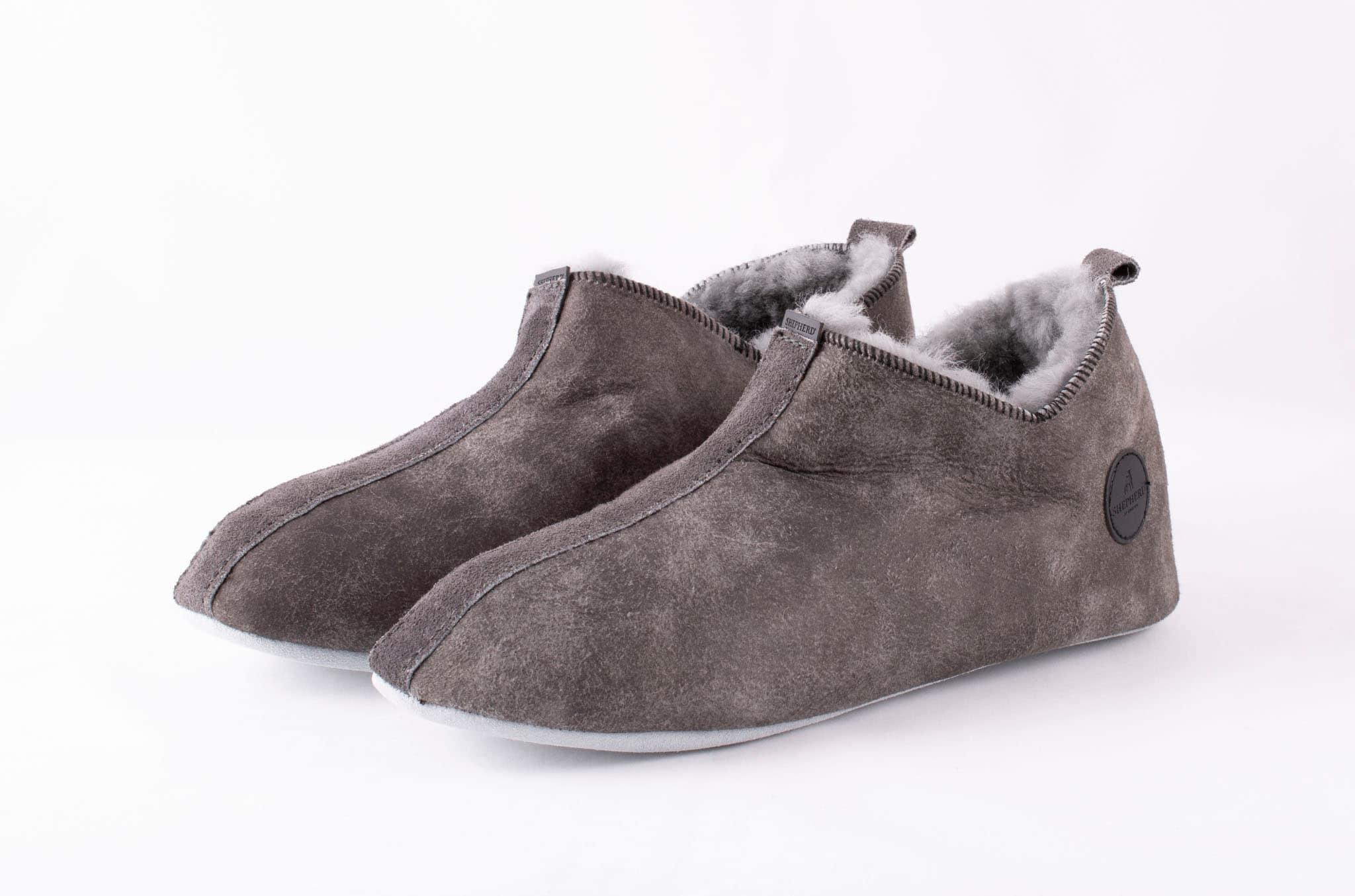 Viared slippers Antique grey