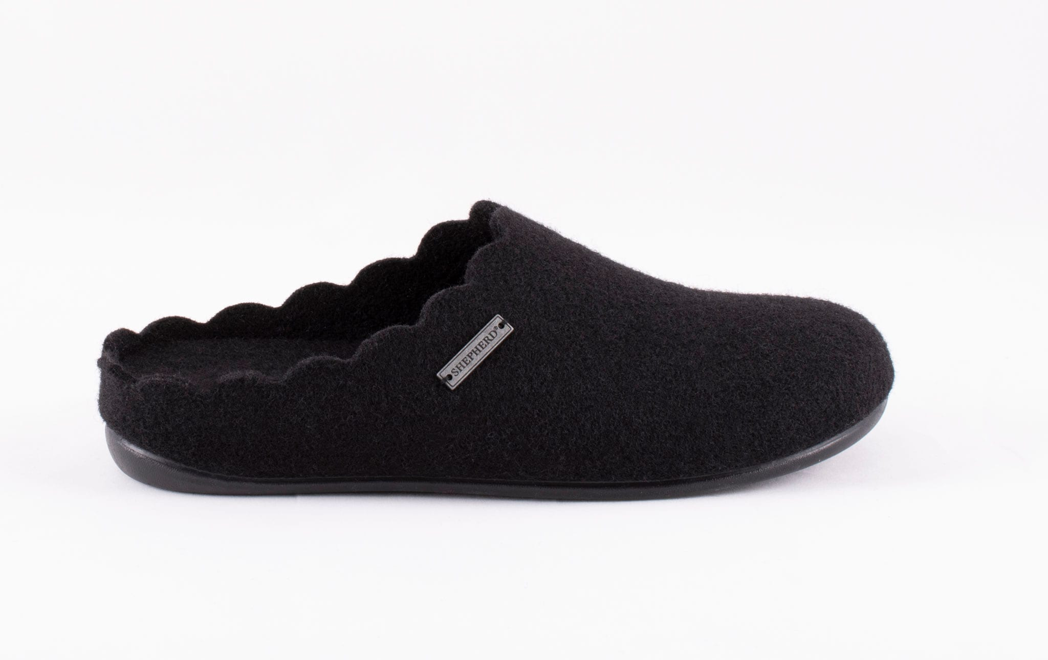 Paulina wool slippers Black