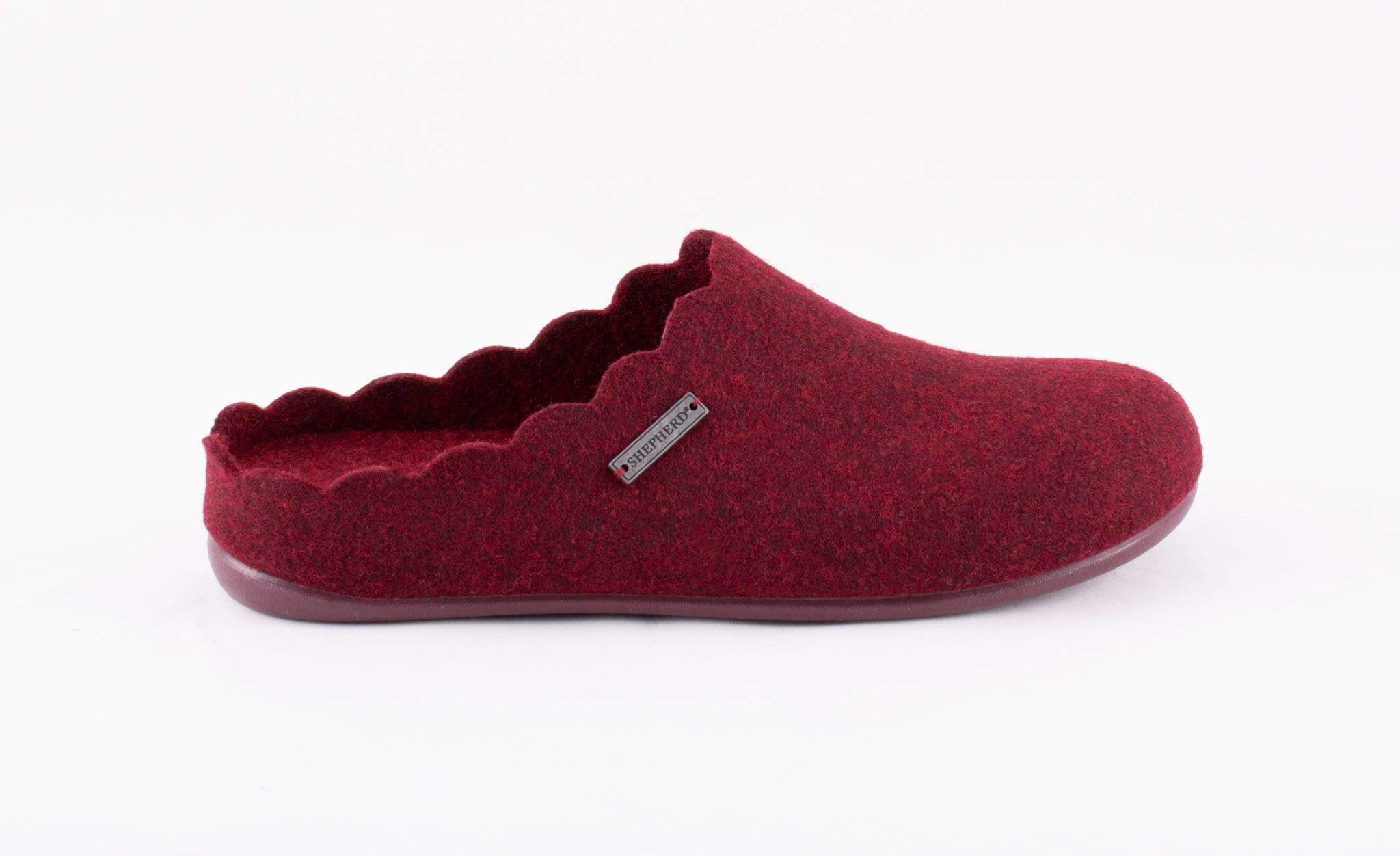 Paulina wool slippers Bordeaux