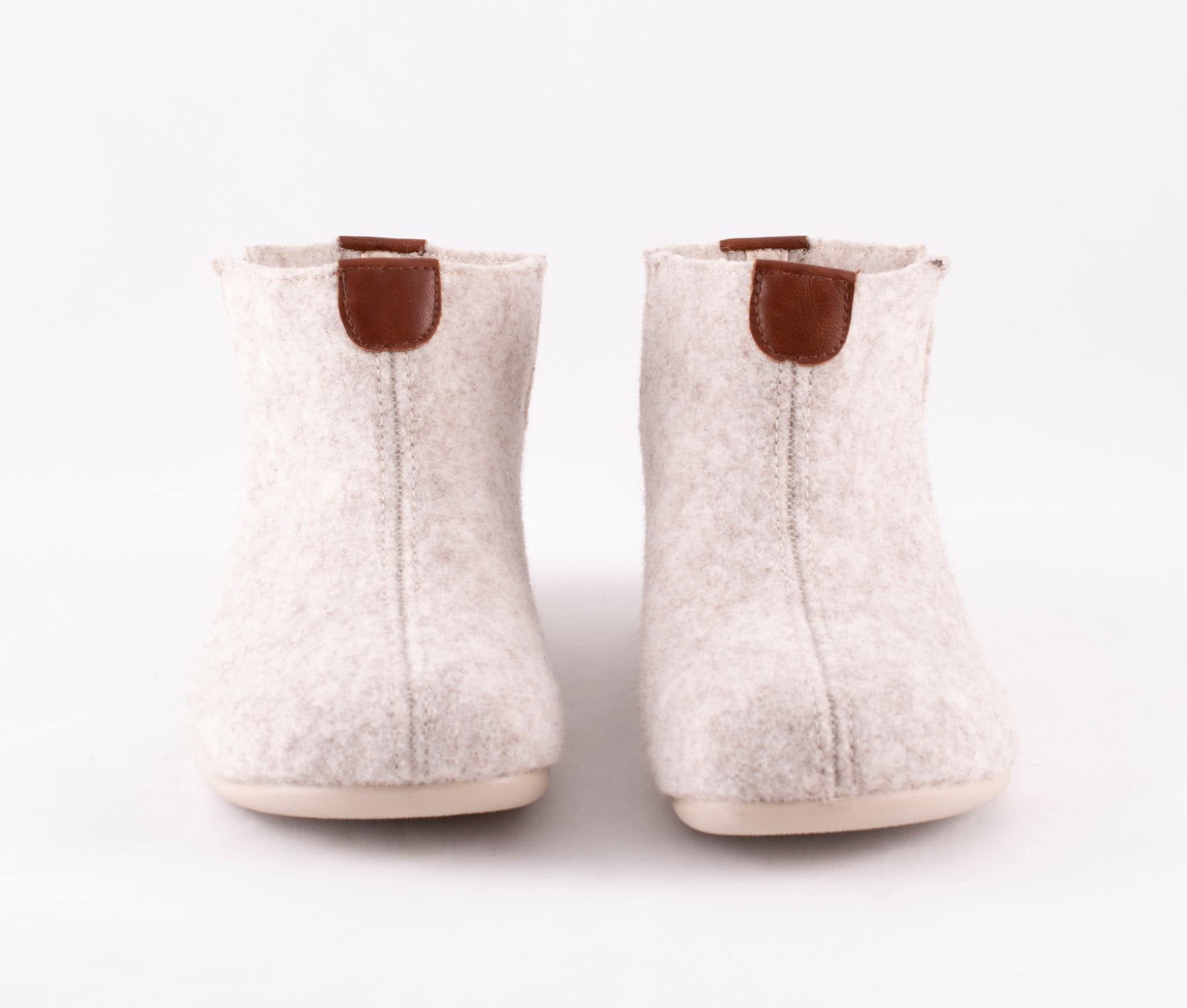 Ester wool slippers Beige