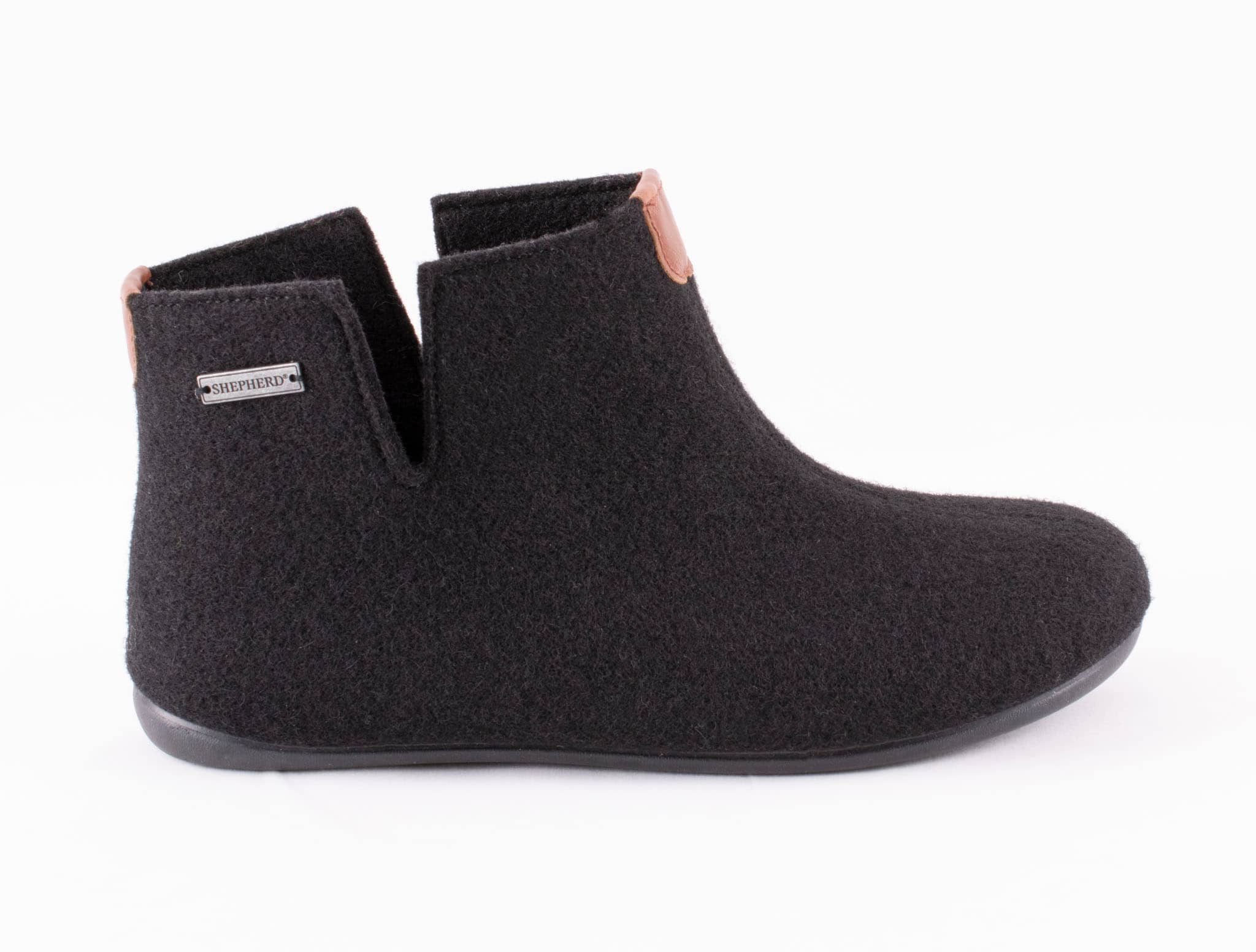 Erik wool slippers Black