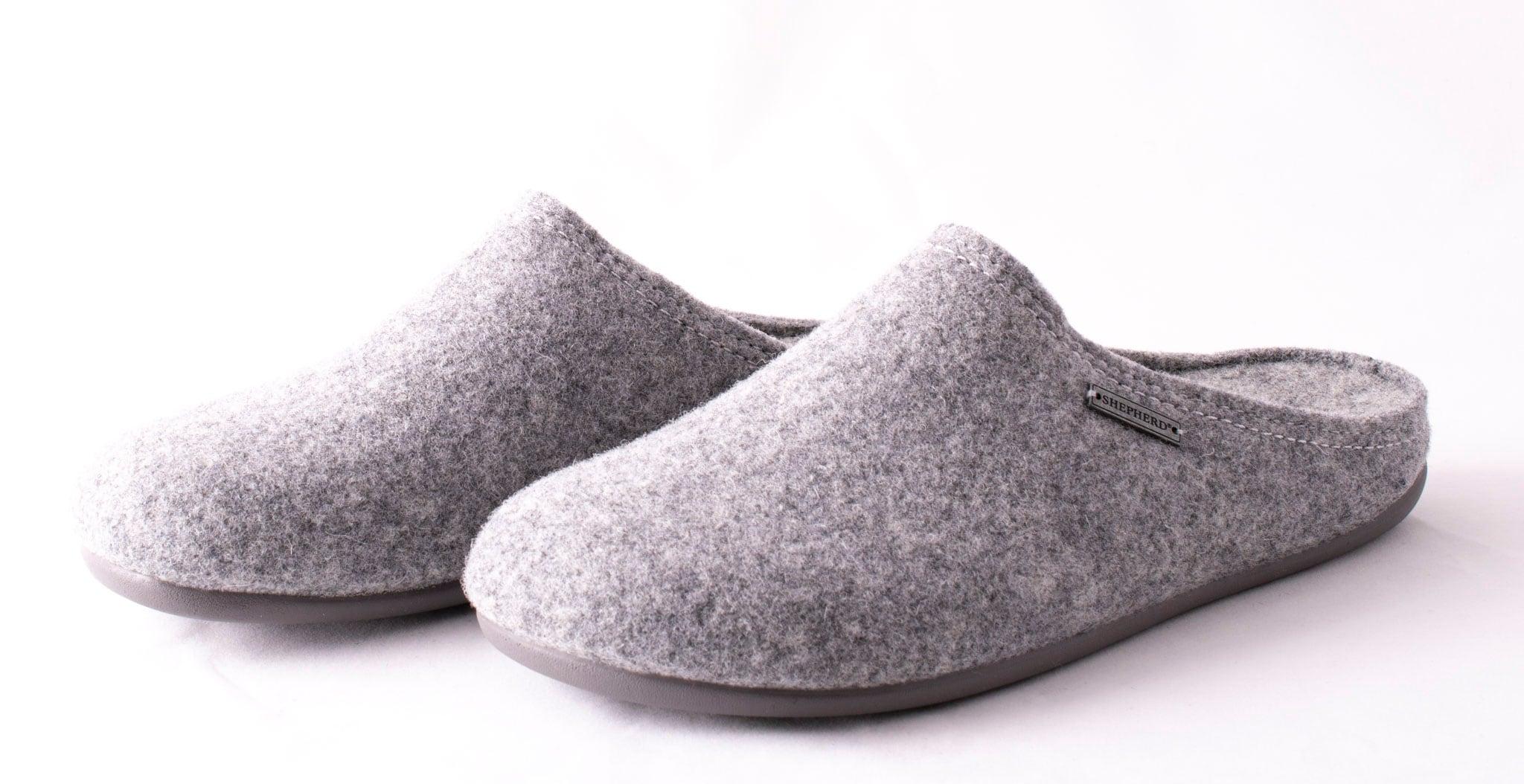 Jon, wool slippers Grey