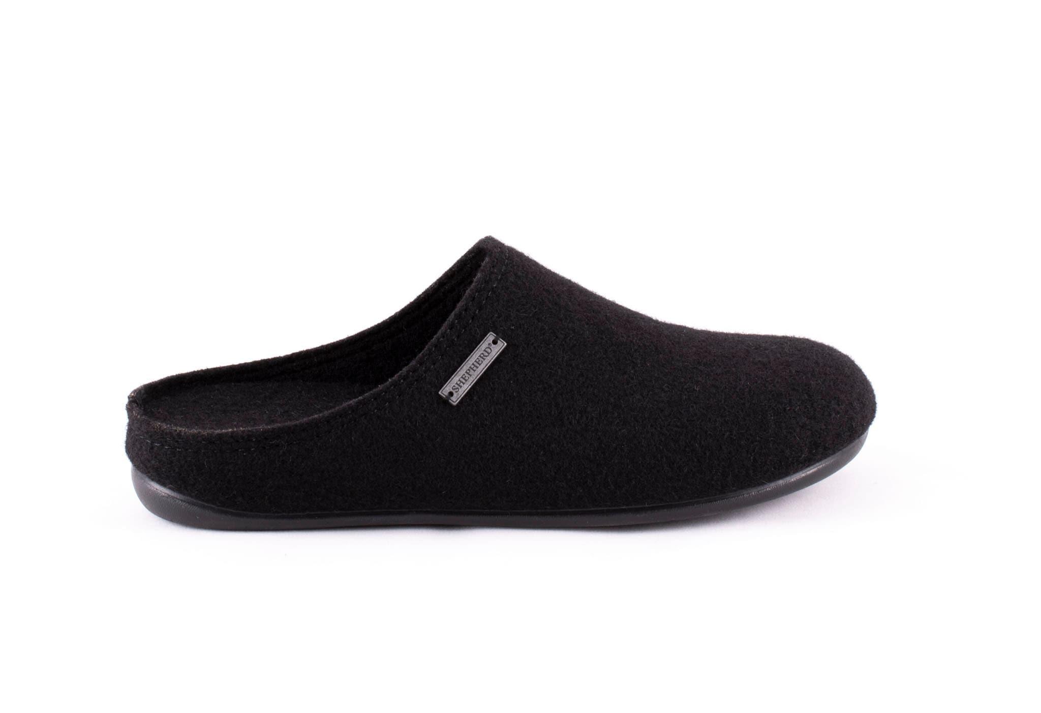 Cilla wool slippers Black
