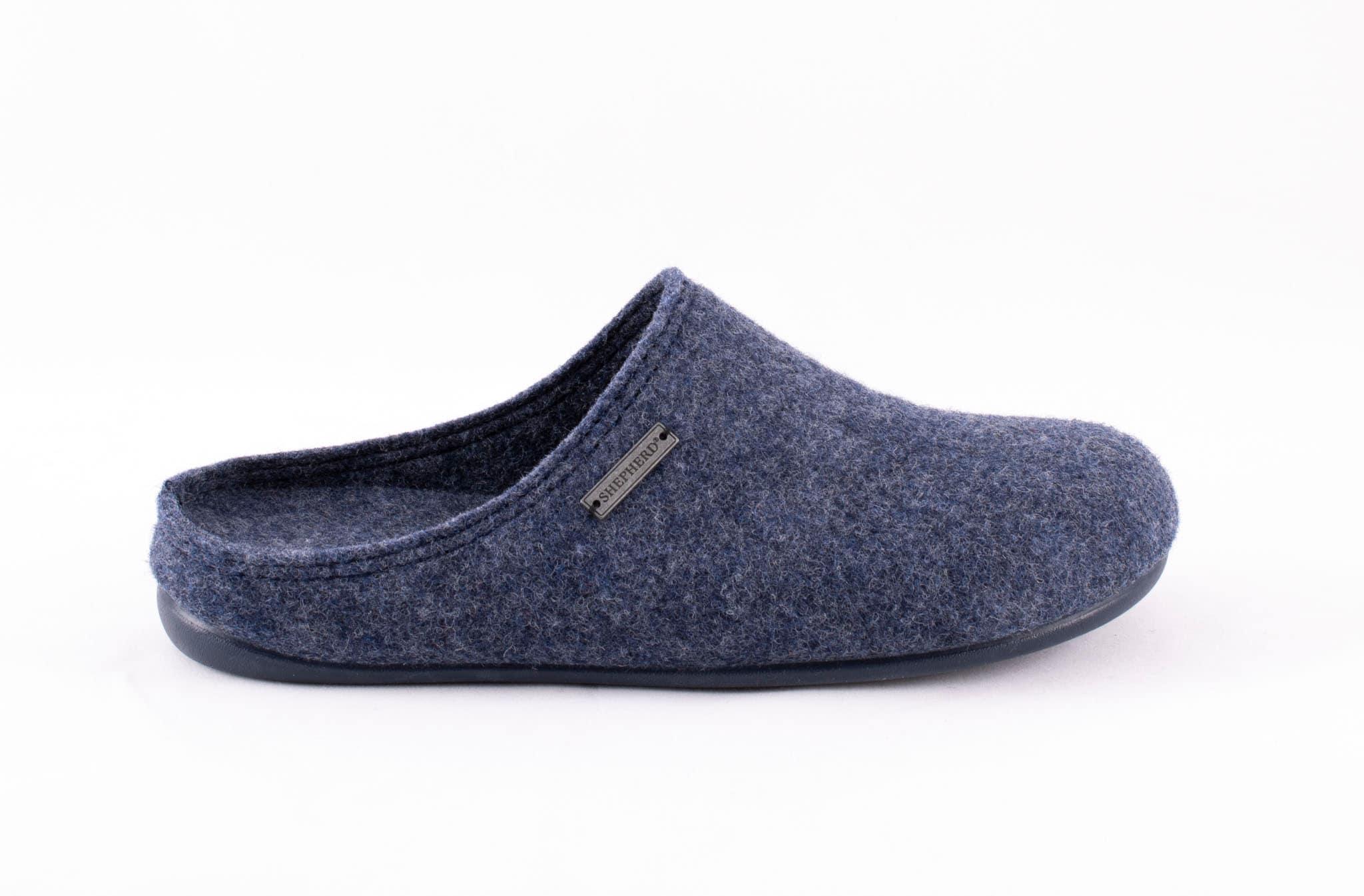 Cilla wool slippers Dark blue