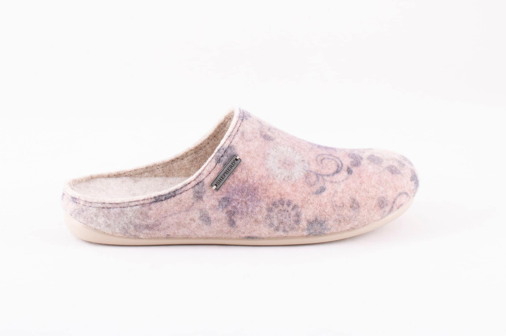 Cilla wool slippers Beige/paisley
